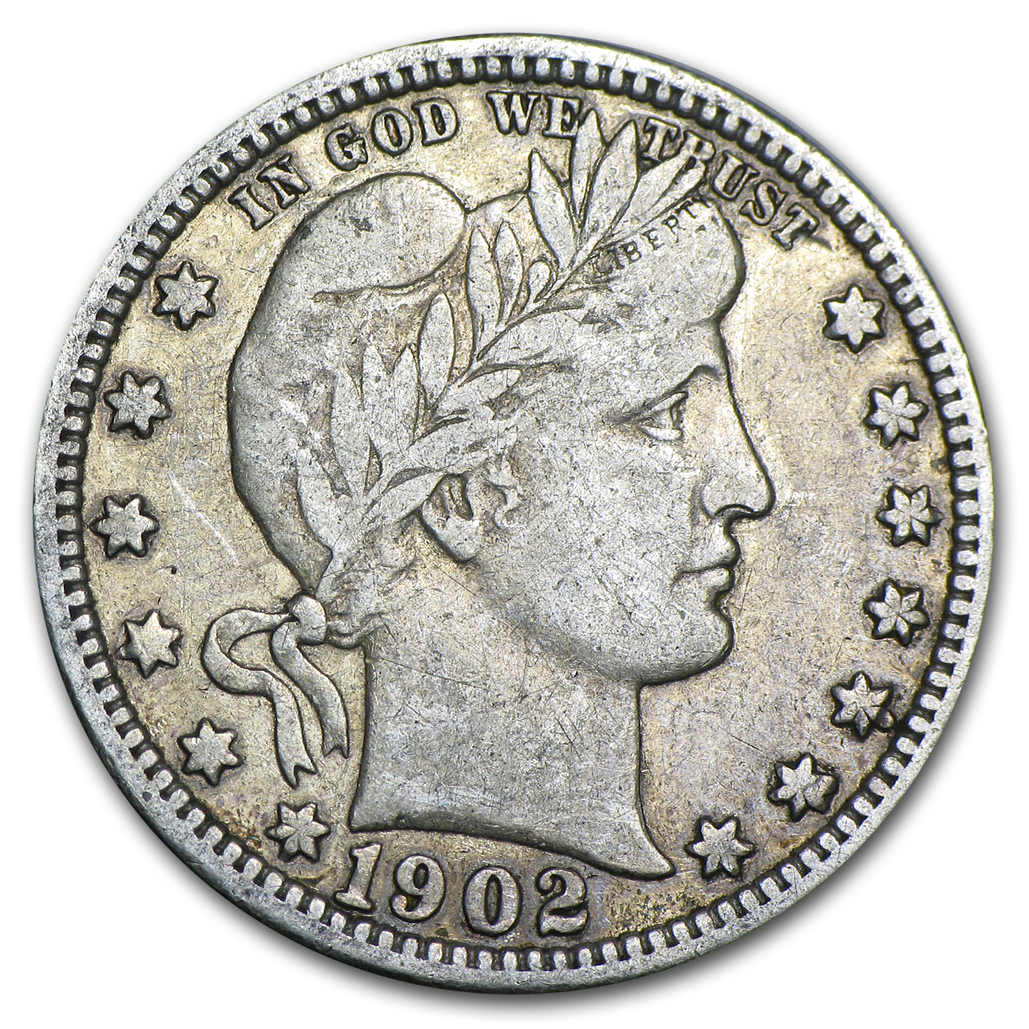 1902-O Barber Quarter VF