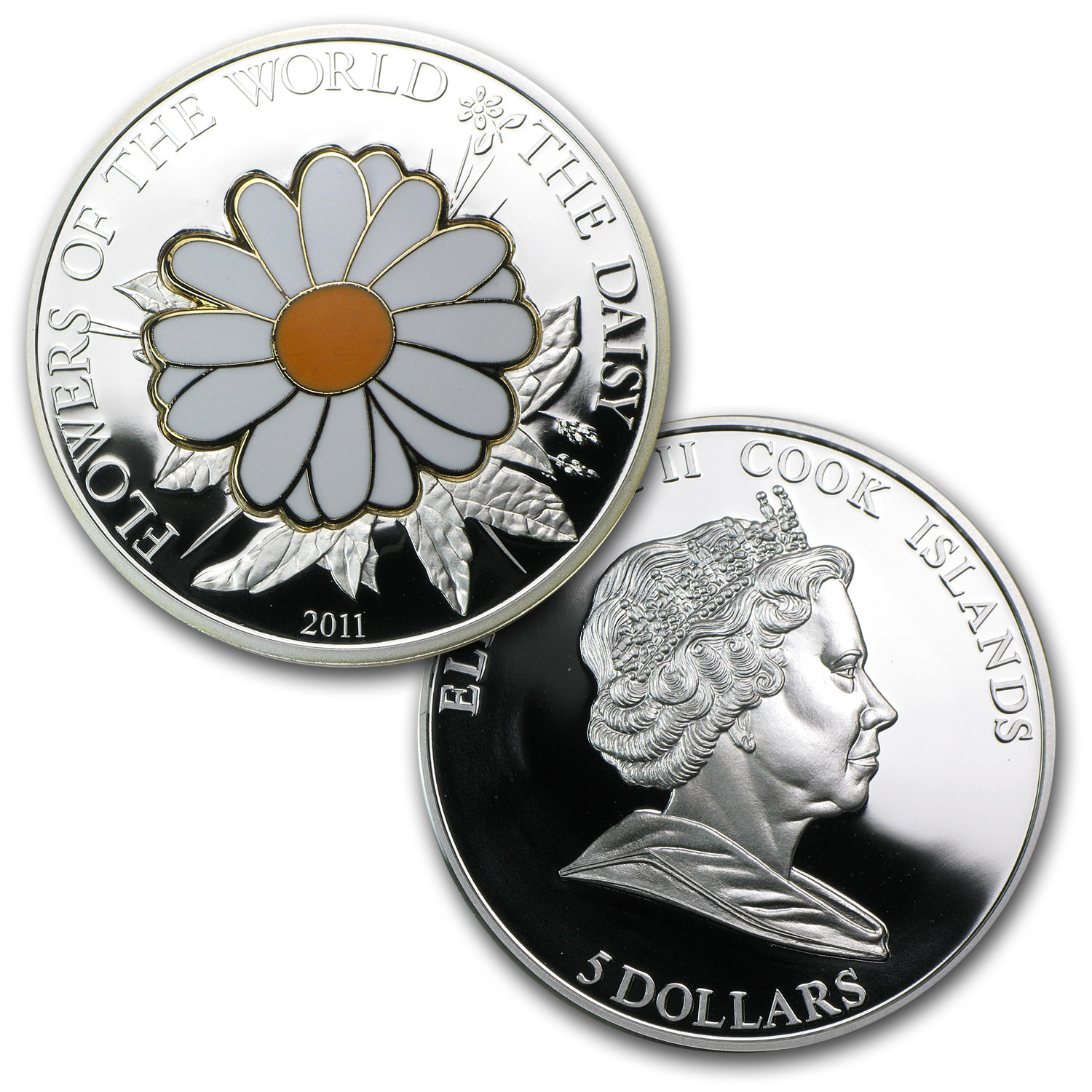 Cook Islands Silver World of Flowers-Daisy and Poppy - 2 Coin Set