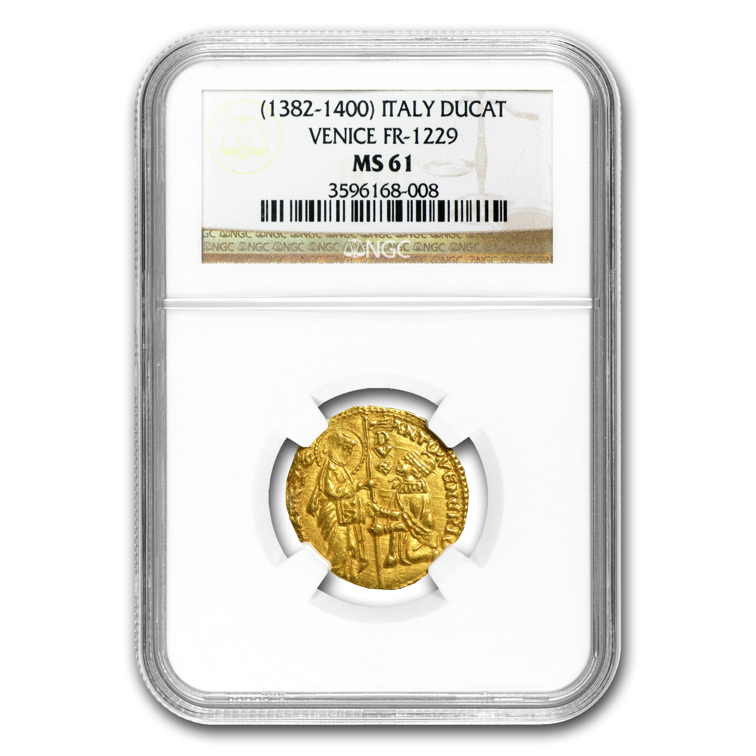 Venice Gold Ducat MS -6 NGC1 (1382-1400 AD)