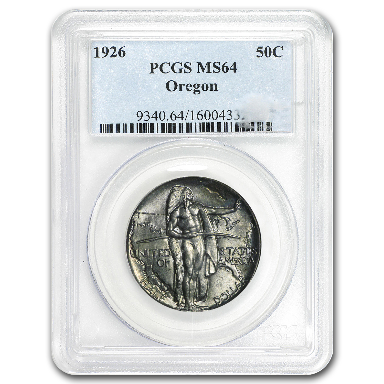 1926 Oregon Trail Memorial Half Dollar MS-64 PCGS