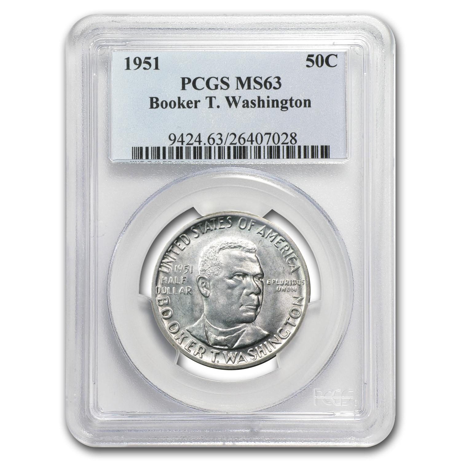 1951 Booker T. Washington MS-63 PCGS
