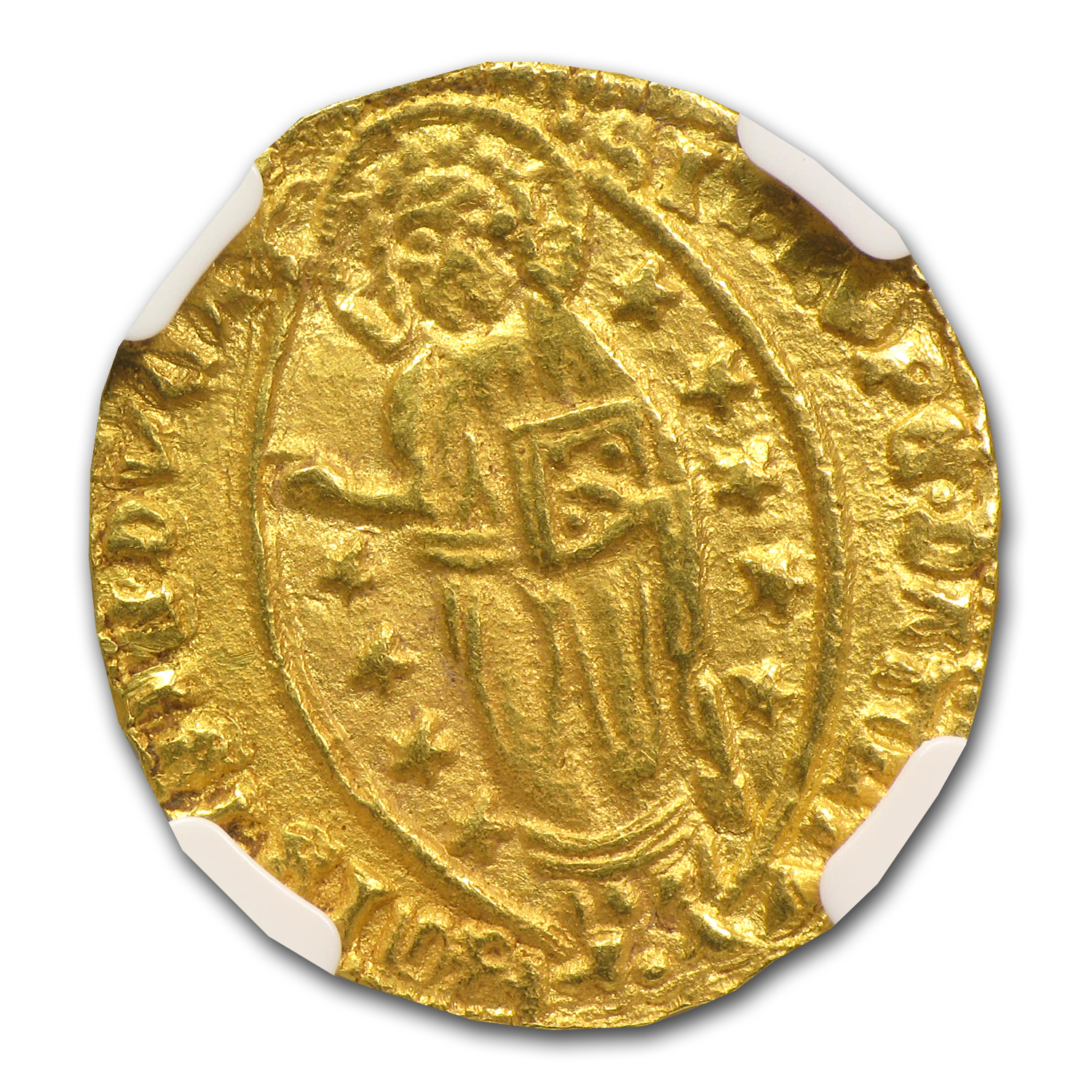 Greece (Chios) Gold Zecchino (1400-1413AD) NGC MS-61