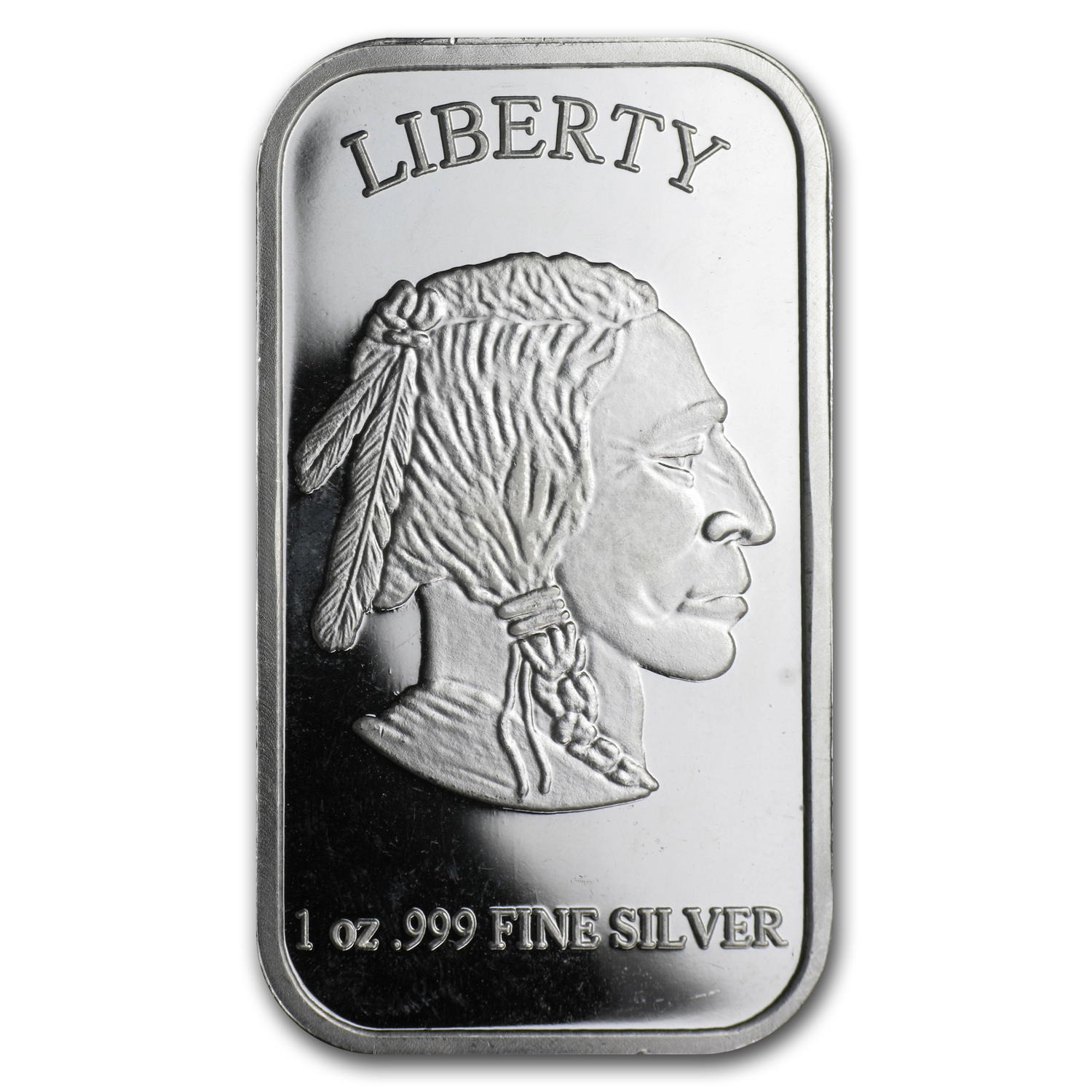 1 oz Silver Bar - Buffalo/American Indian
