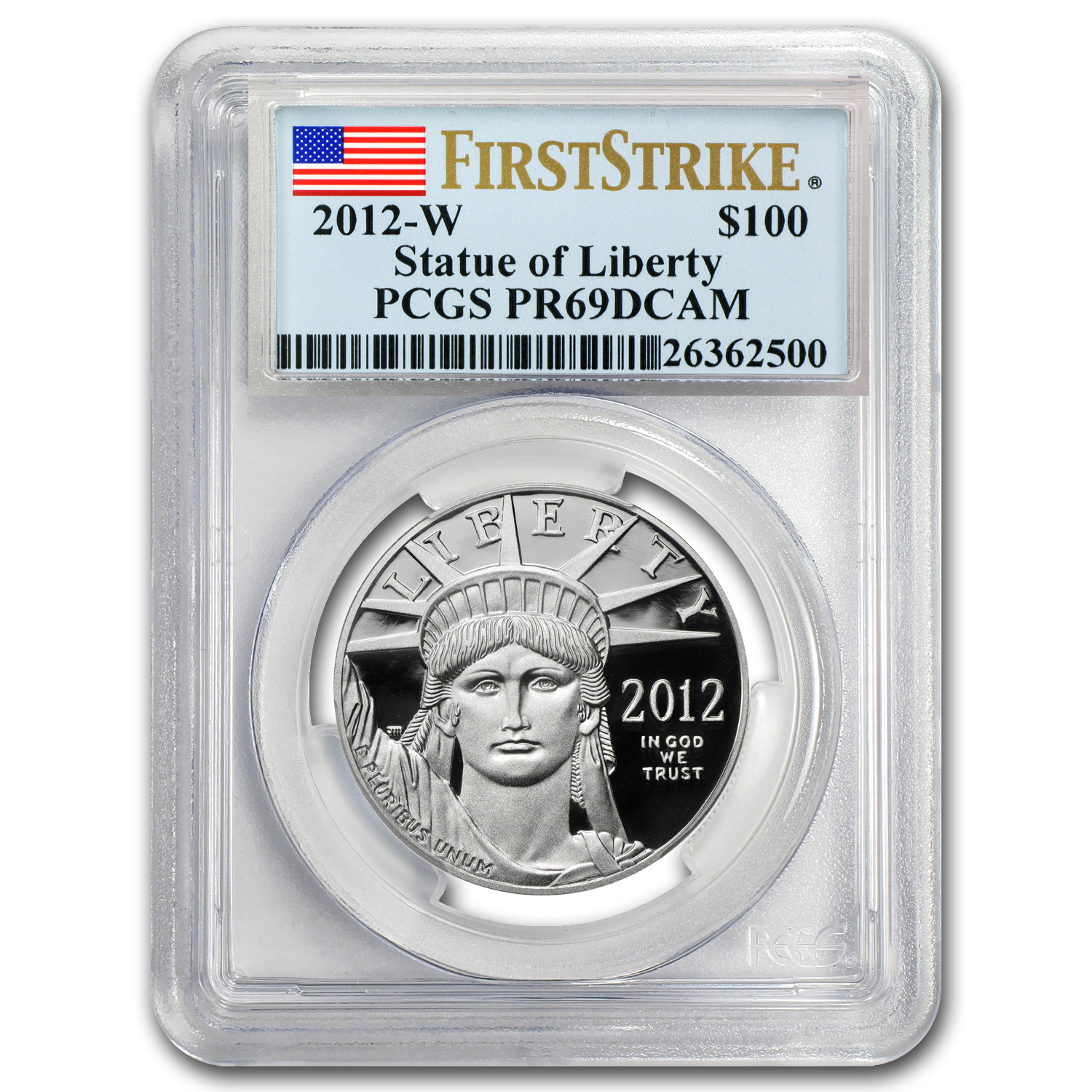 2012-W 1 oz Prf Platinum American Eagle PR-69 PCGS (First Strike)