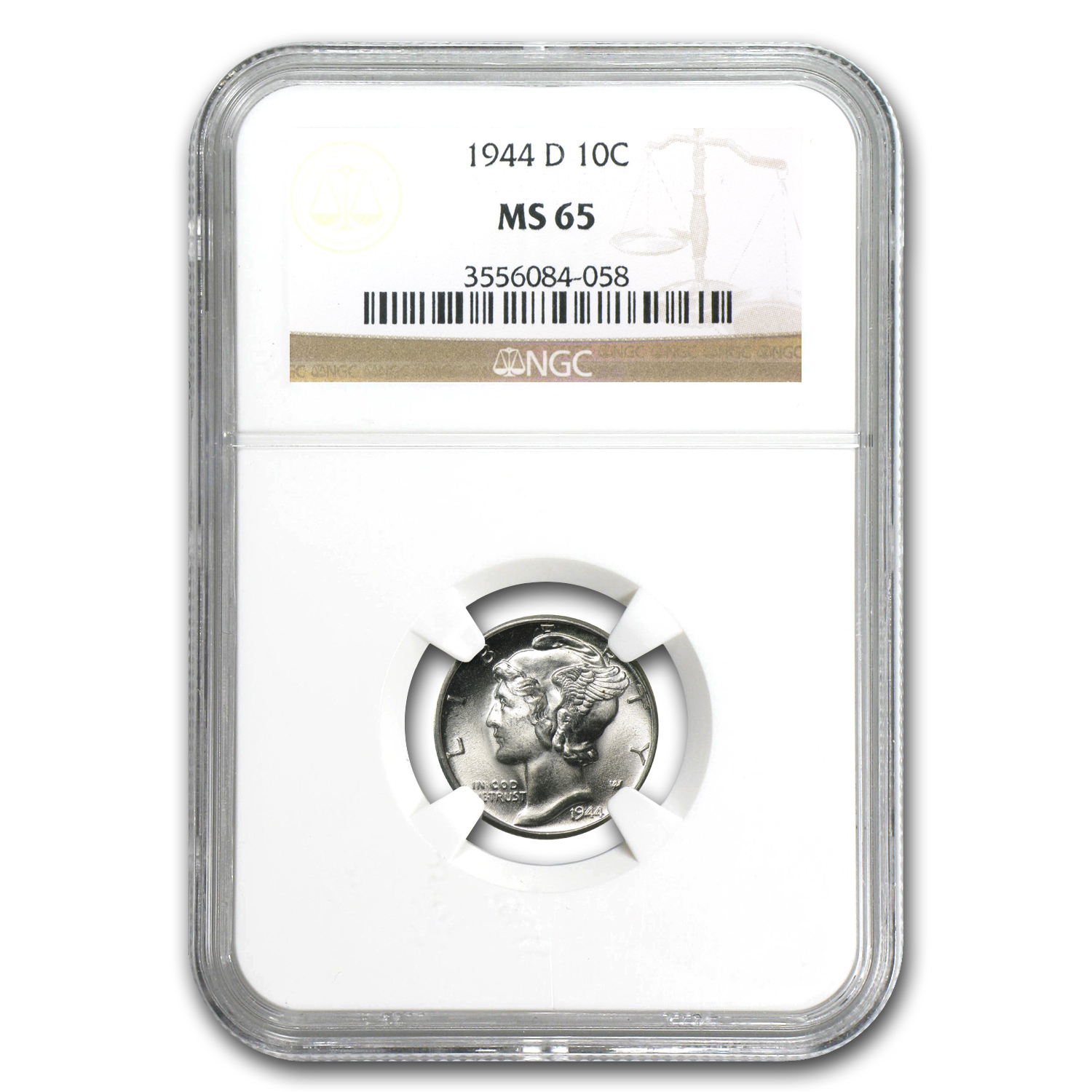 1940-1945 Mercury Dime MS-65 NGC (Random Years)