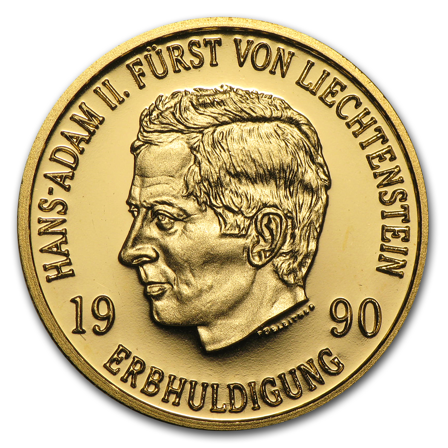 Liechtenstein 1990 50 Franken Gold Proof AGW .2893