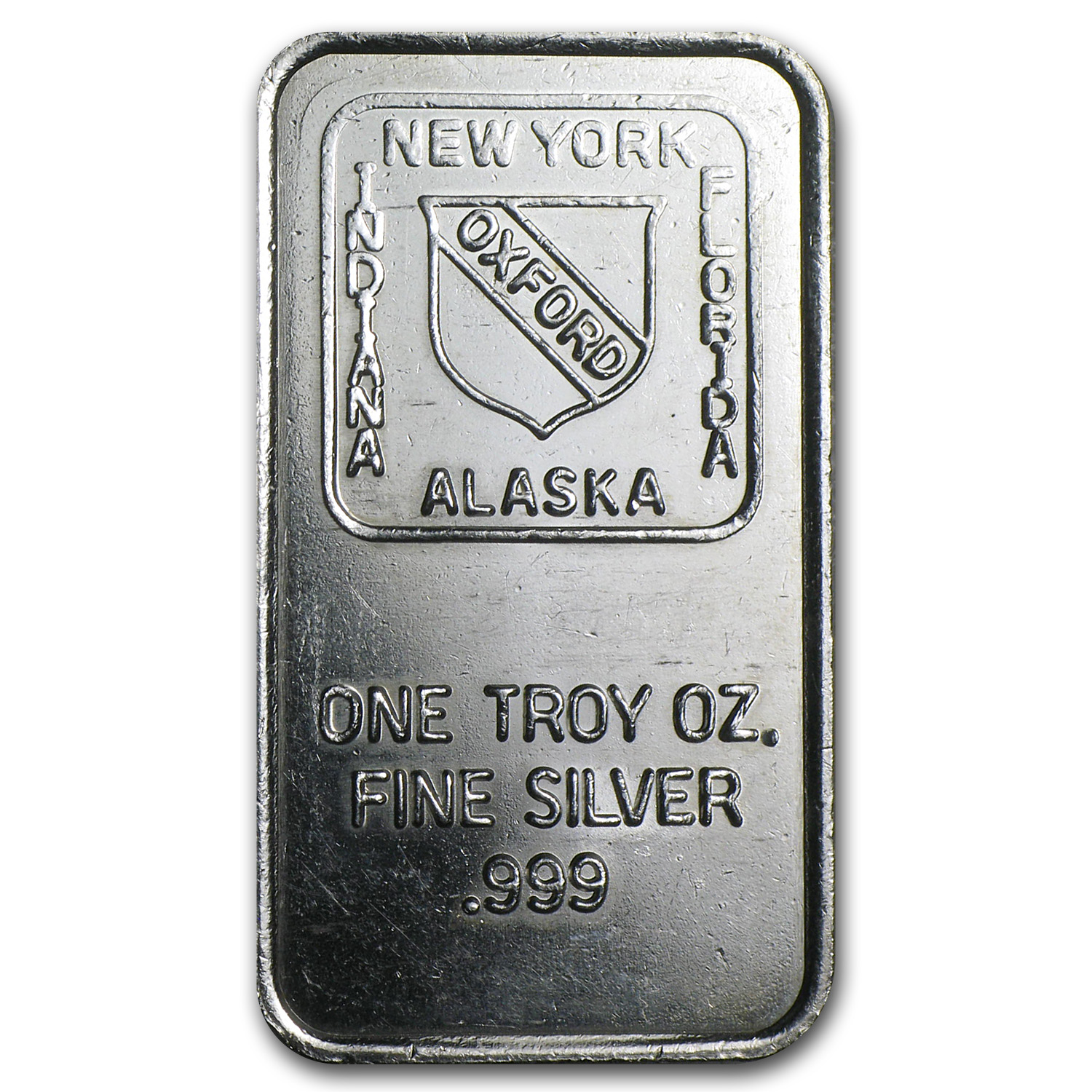 1 oz Silver Bar - Oxford Mint