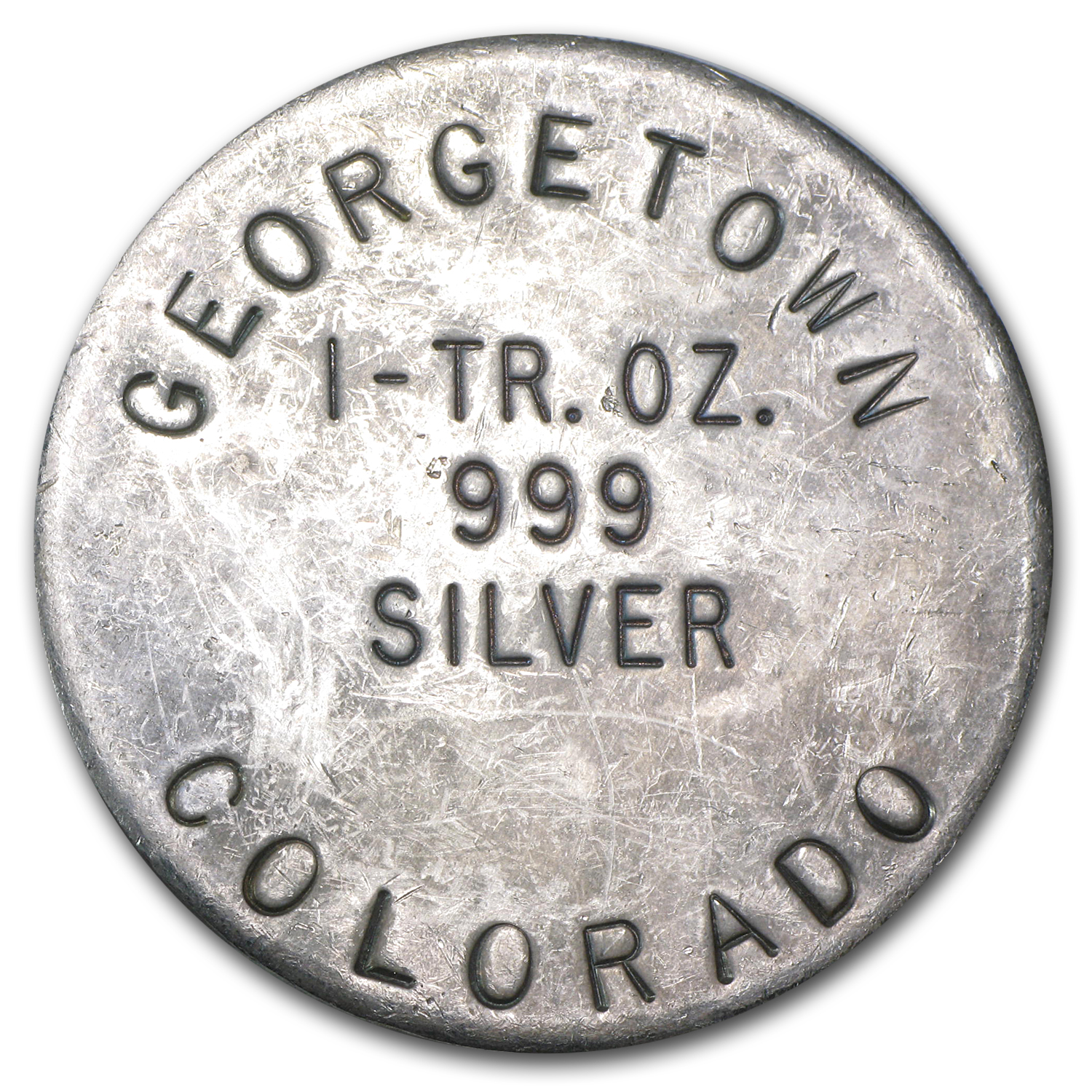 1 oz Silver Round - Georgetown, Colorado (45 mm)