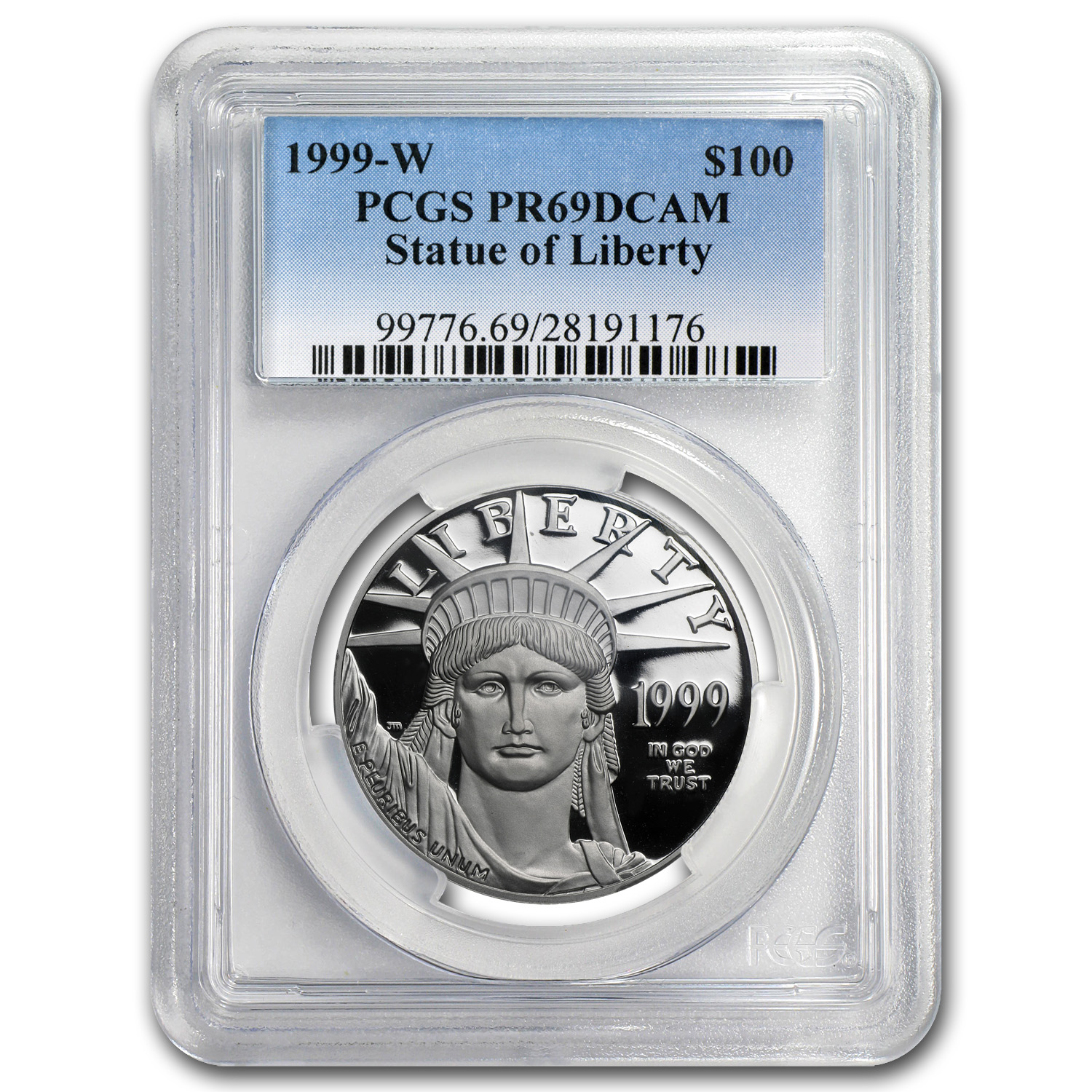 1999-W 1 oz Proof Platinum American Eagle PR-69 PCGS