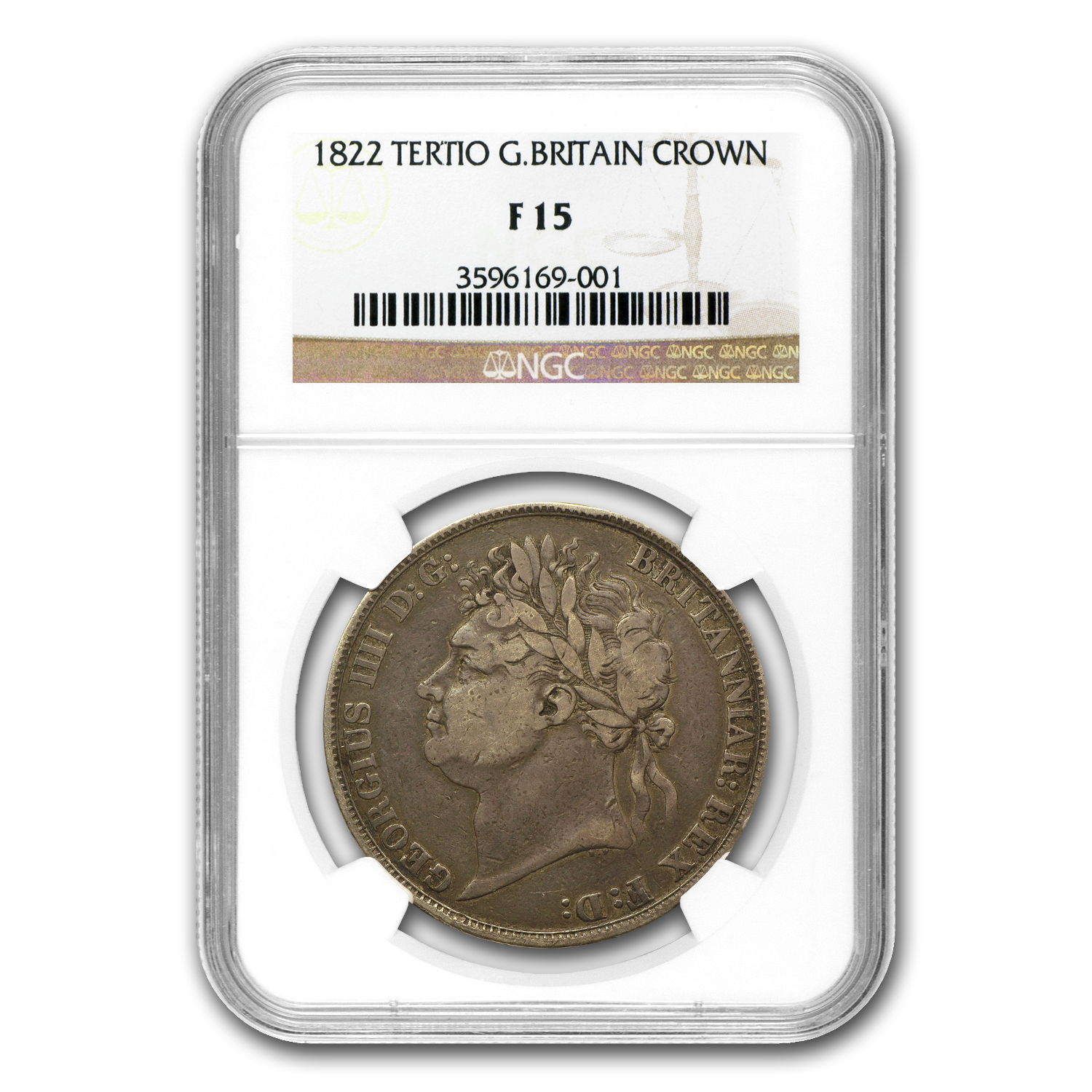 Great Britain 1822 Crown George IV NGC F-15