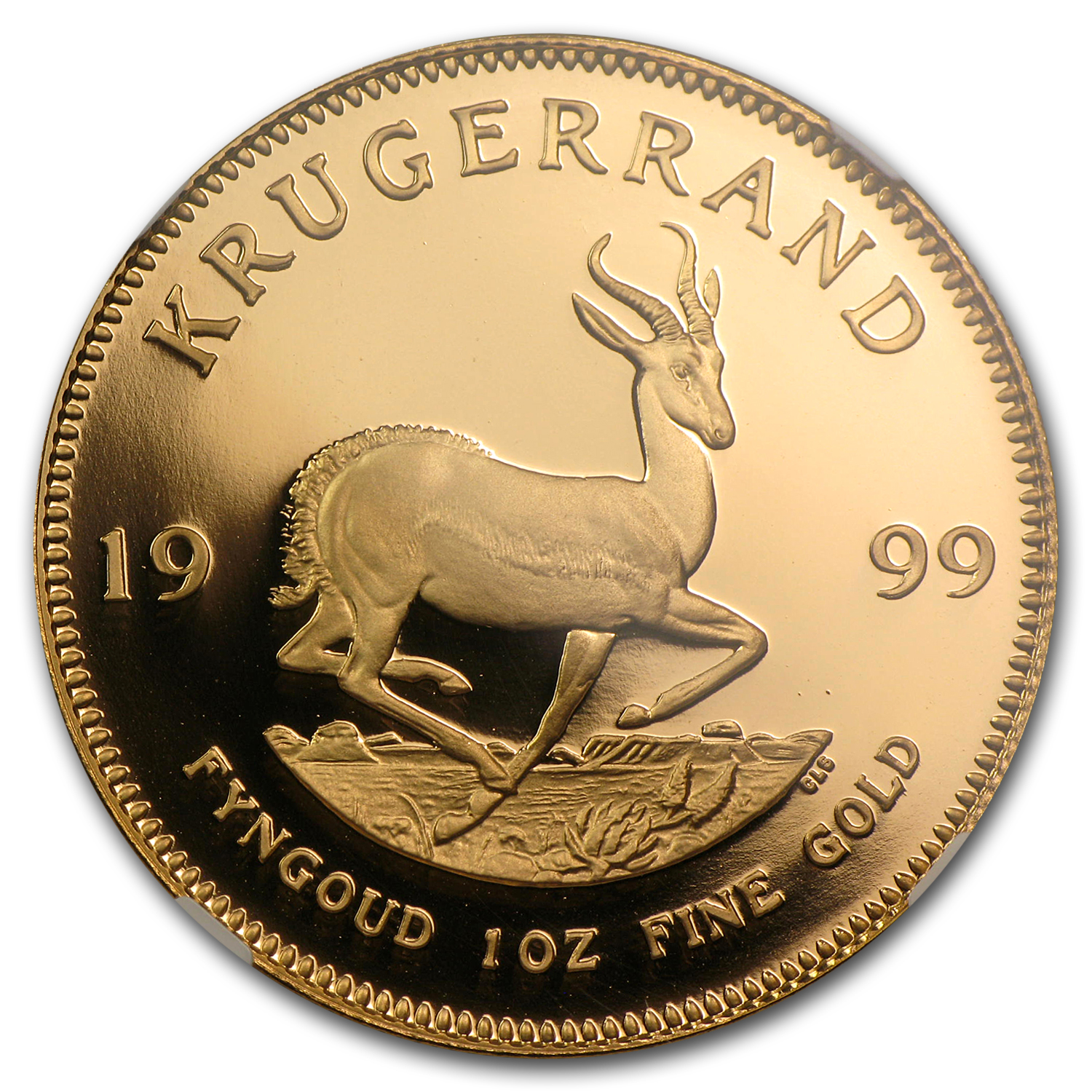1999 South Africa 1 oz Gold Krugerrand PF-70 NGC