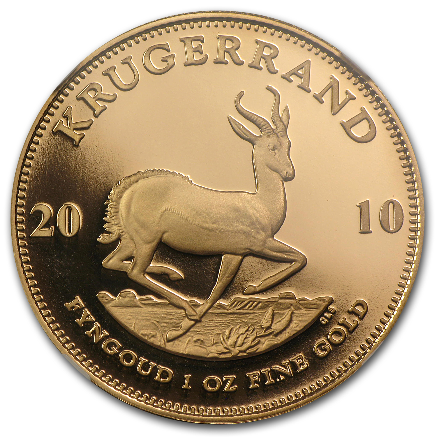 2010 1 oz Gold South African Krugerrand PF-70 NGC (Berlin)