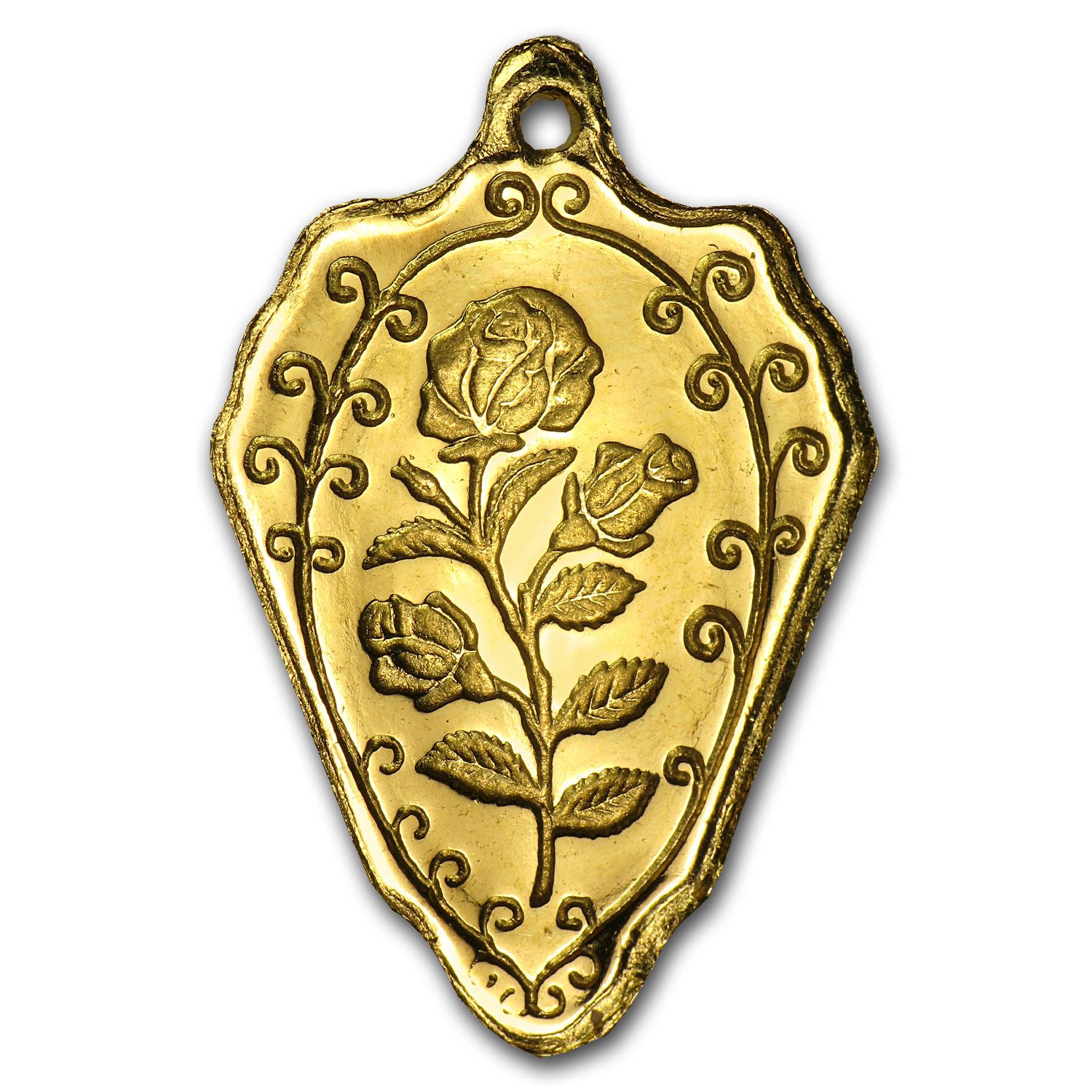 2.5 gram Gold Pendant - Arrowhead (Rose)
