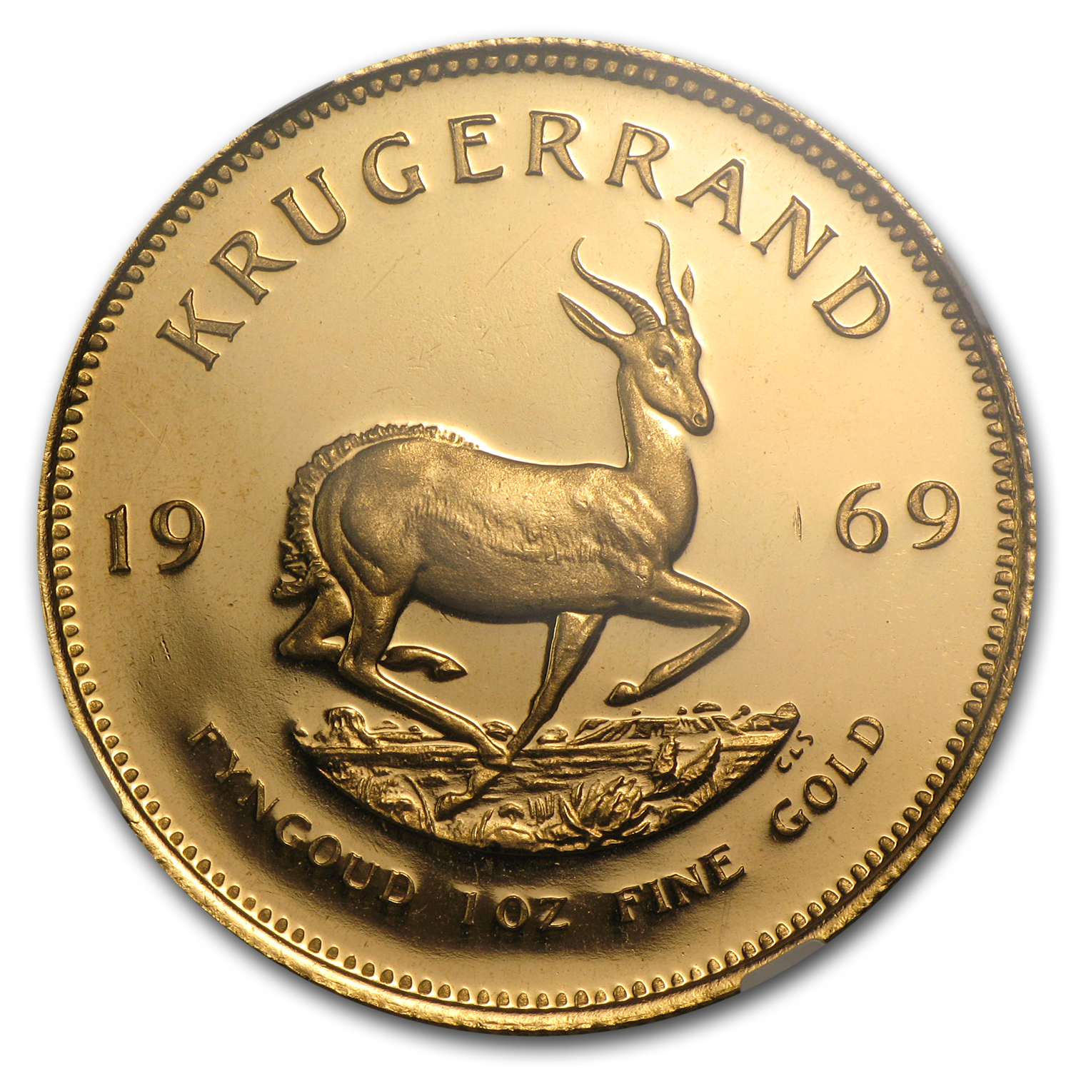 1969 1 oz Gold South African Krugerrand PF-66 UCAM NGC