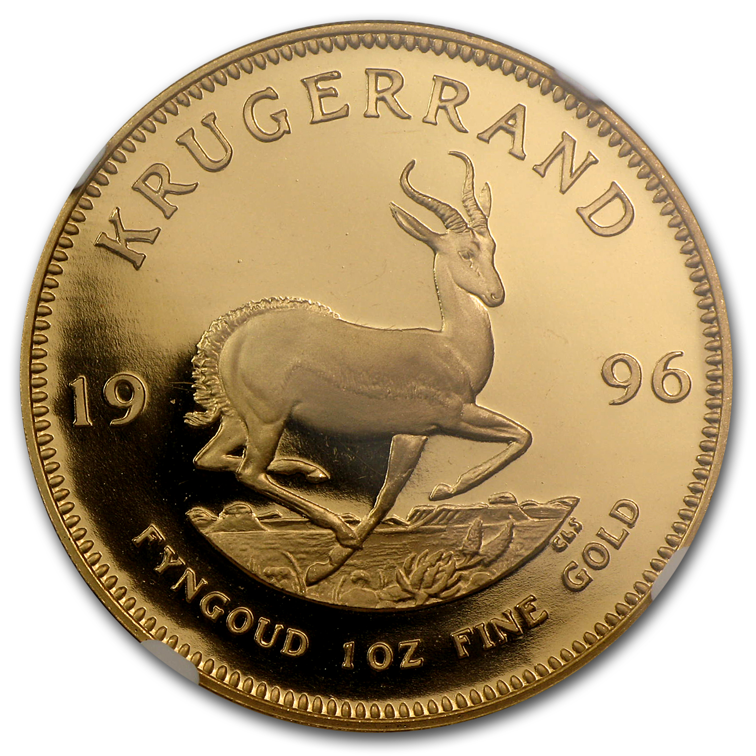 1996 South Africa 1 oz Gold Krugerrand PF-68 NGC
