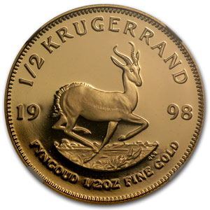 1998 1/2 oz Gold South African Krugerrand PF-69 NGC