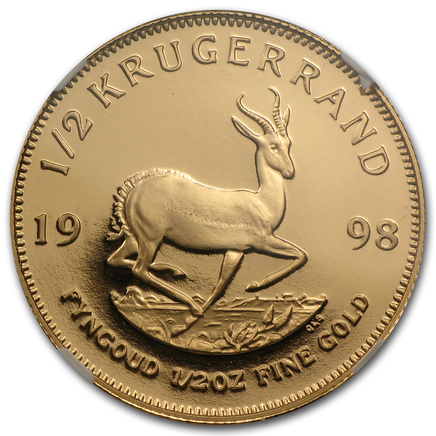 1998 South Africa 1/2 oz Gold Krugerrand PF-68 NGC