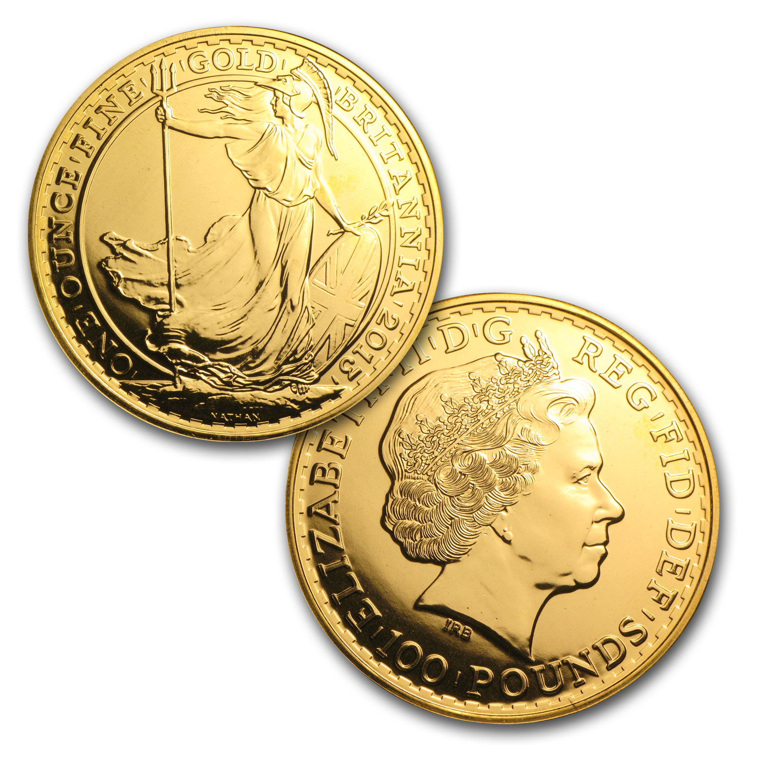 2013 Great Britain Gold Britannia (10-Coin MintDirect® Tube)