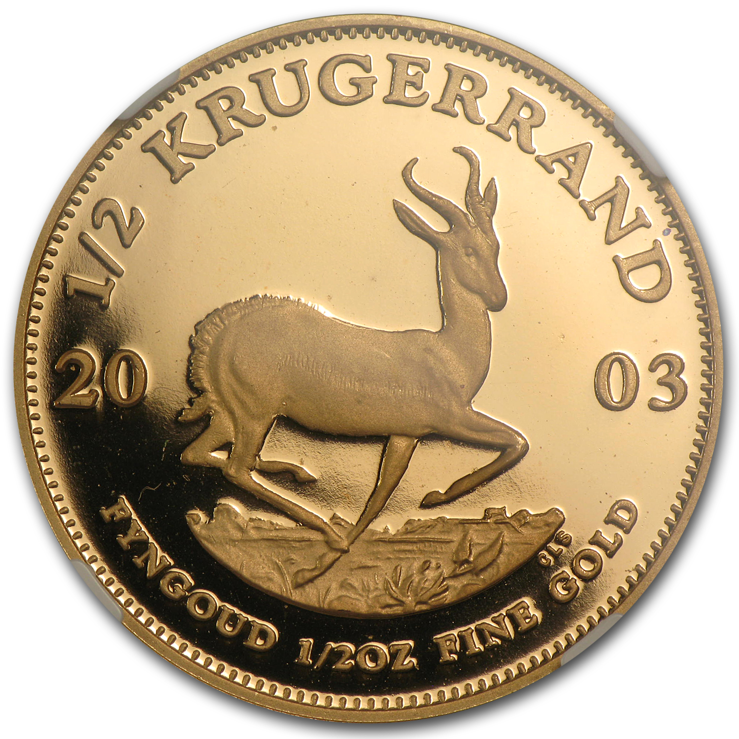 2003 1/2 oz Gold South African Krugerrand PF-68 NGC