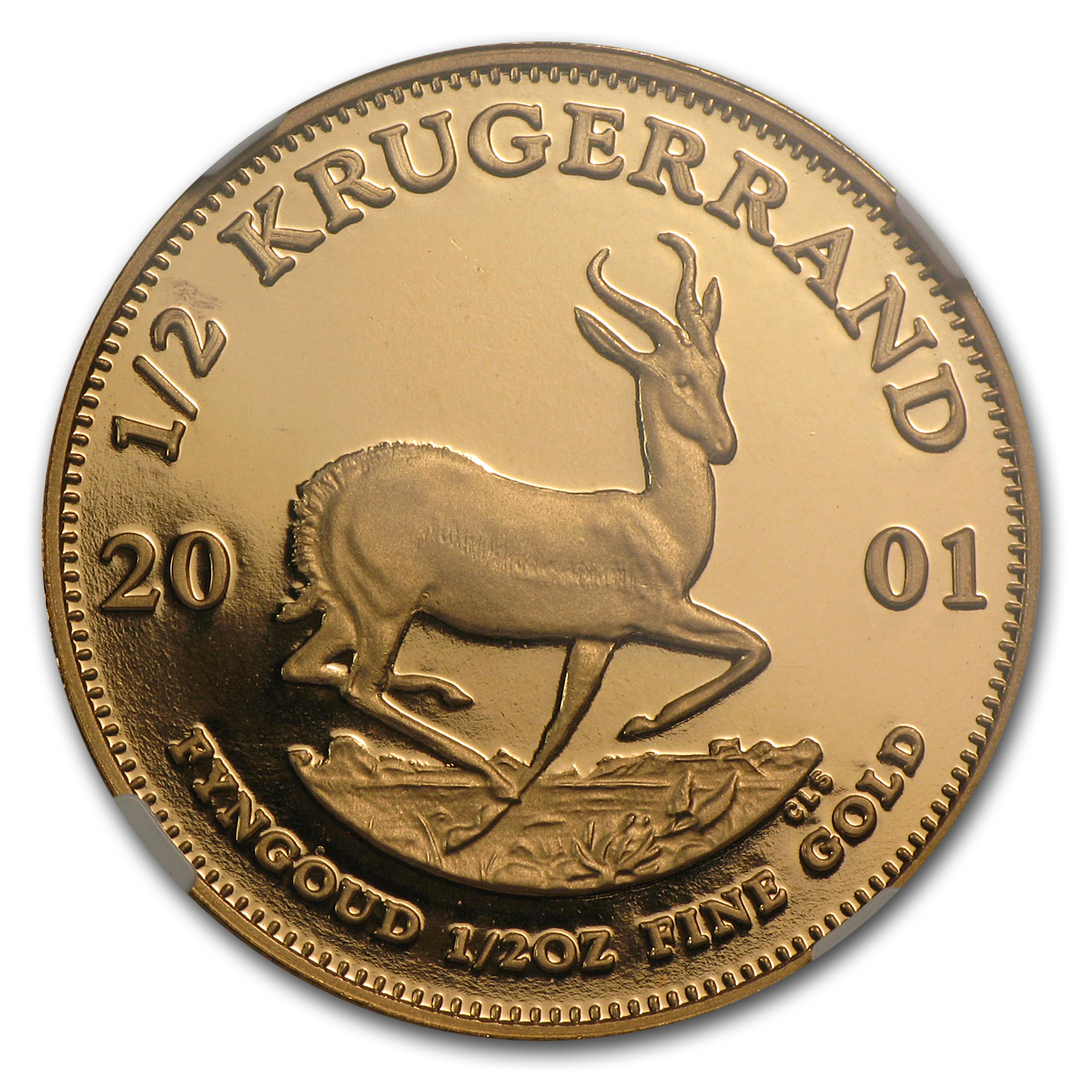 2001 South Africa 1/2 oz Gold Krugerrand PF-69 NGC
