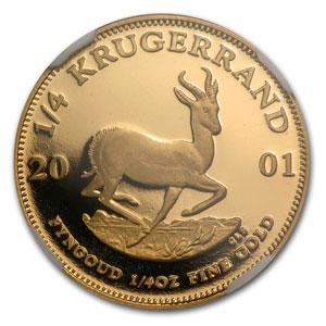 2001 1/4 oz Gold South African Krugerrand PF-69 NGC