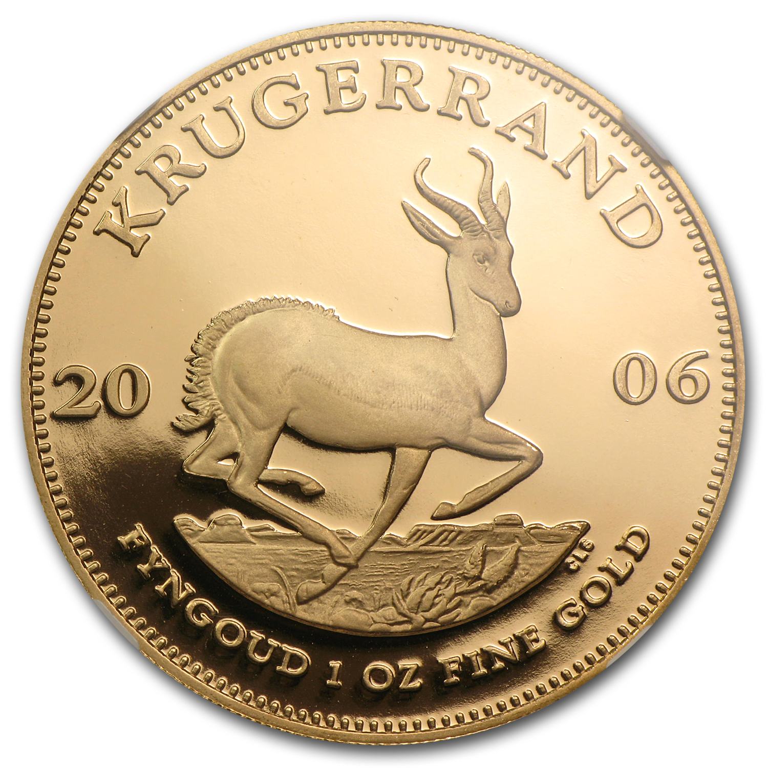 2006 1 oz Gold South African Krugerrand PF-70 NGC
