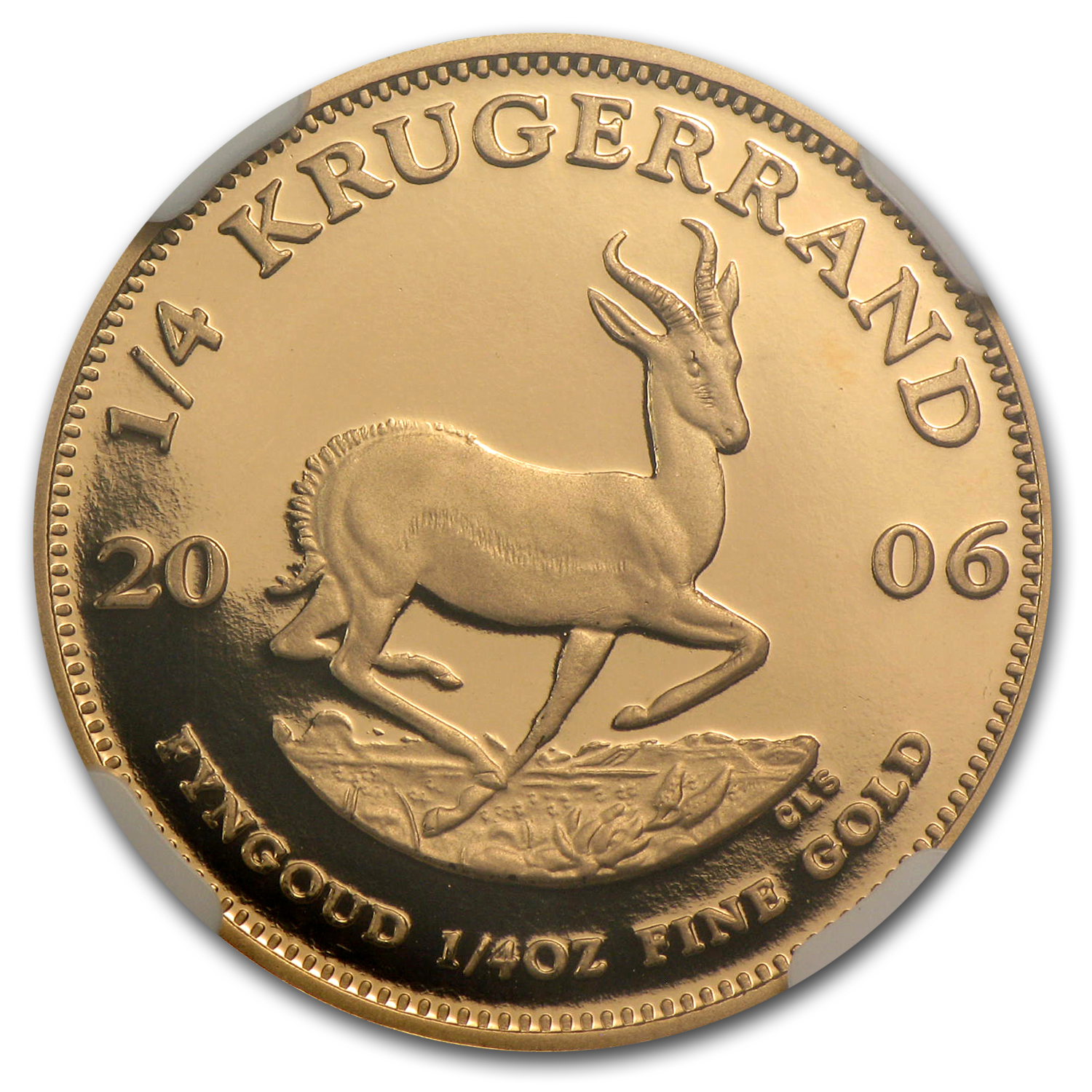 2006 South Africa 1/4 oz Gold Krugerrand PF-70 NGC