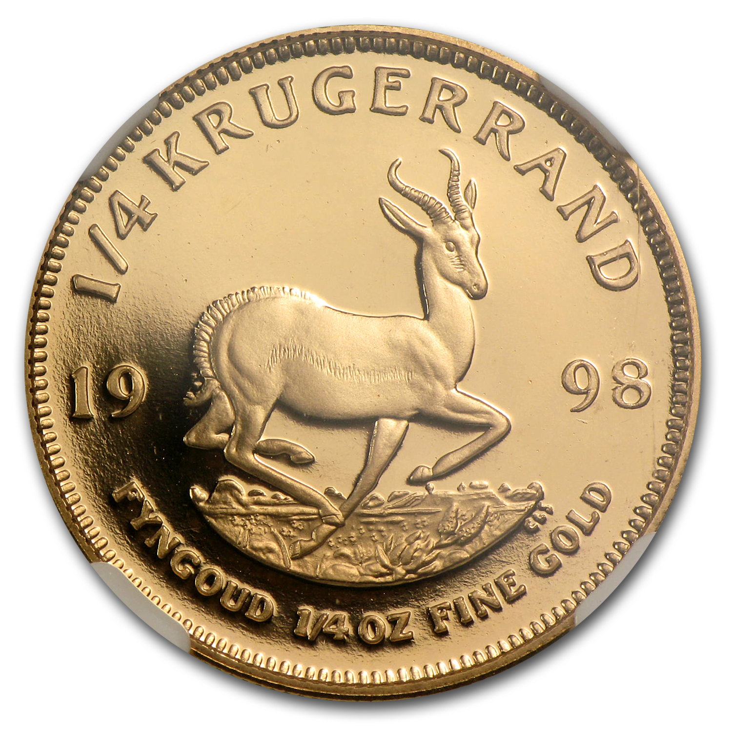 1998 South Africa 1/4 oz Gold Krugerrand PF-69 NGC