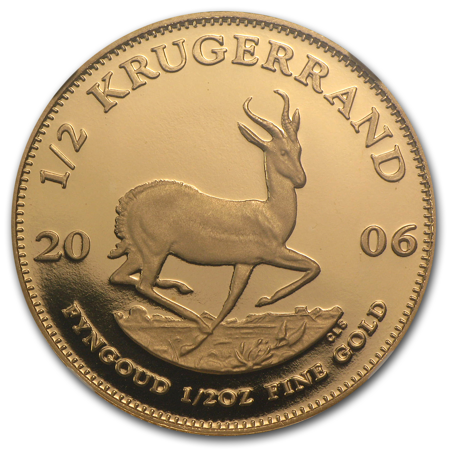 2006 1/2 oz Gold South African Krugerrand PF-69 NGC