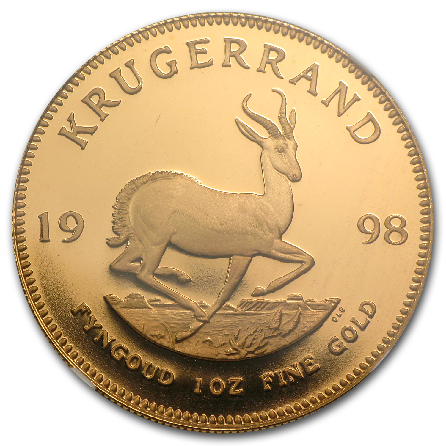 1998 1 oz Gold South African Krugerrand PF-69 NGC
