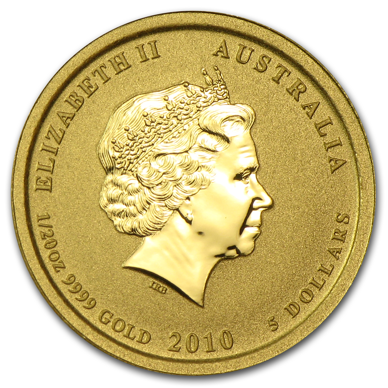 2010 1/20 oz Gold Lunar Year of the Tiger (Colorized) (Series II)