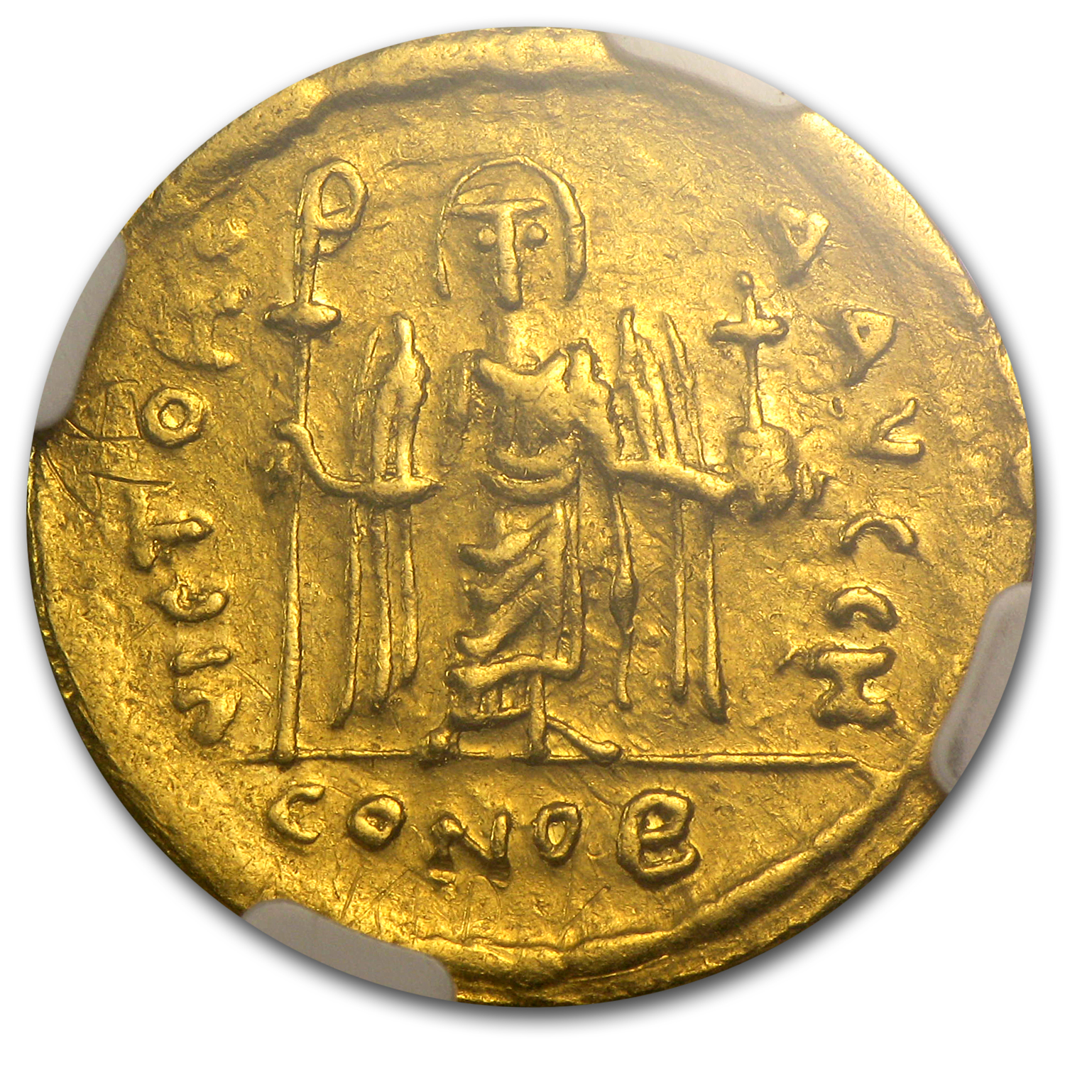Byzantine Gold Emperor Phocas XF NGC (602-610 AD)