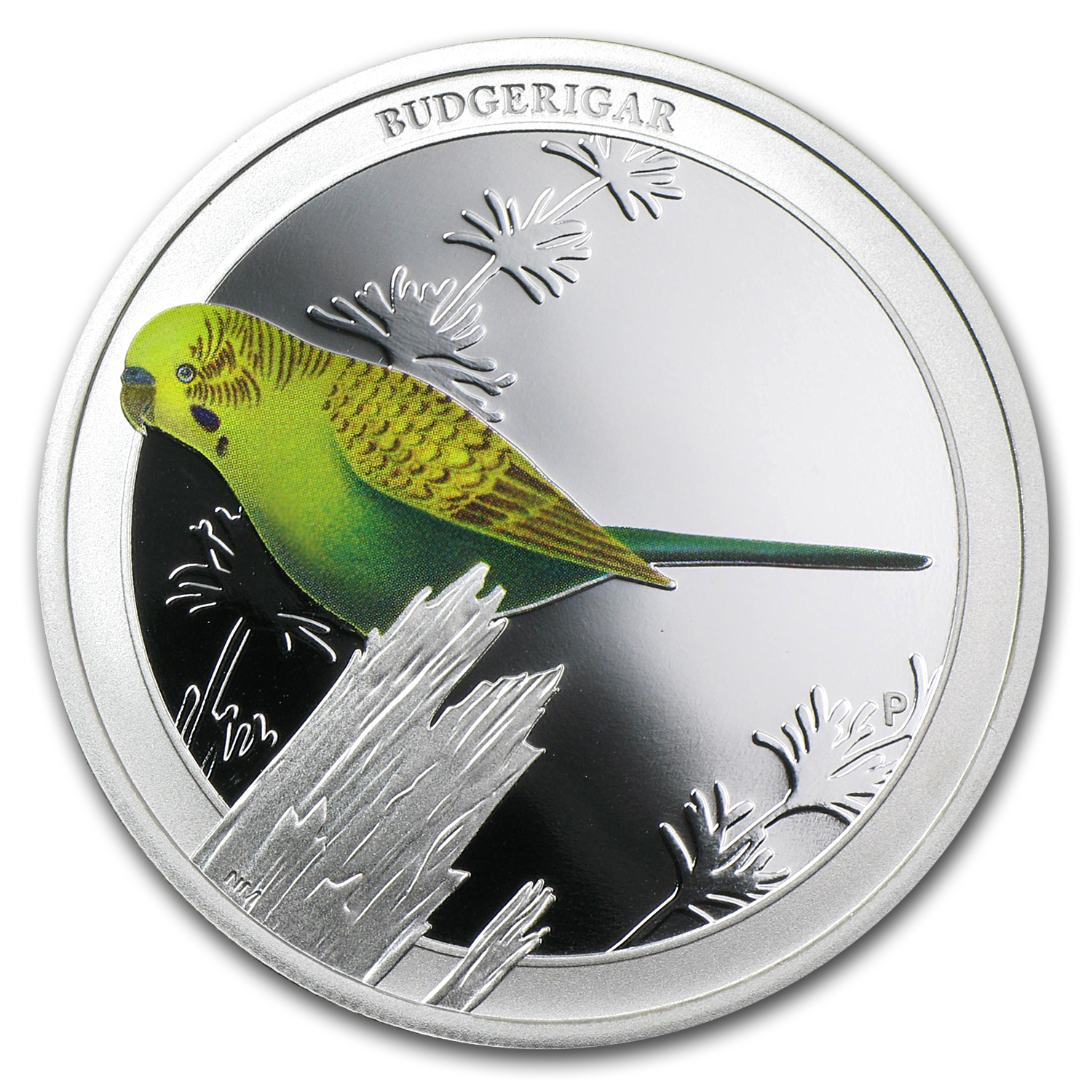 2013 Australia 1/2 oz Silver Budgerigar Proof