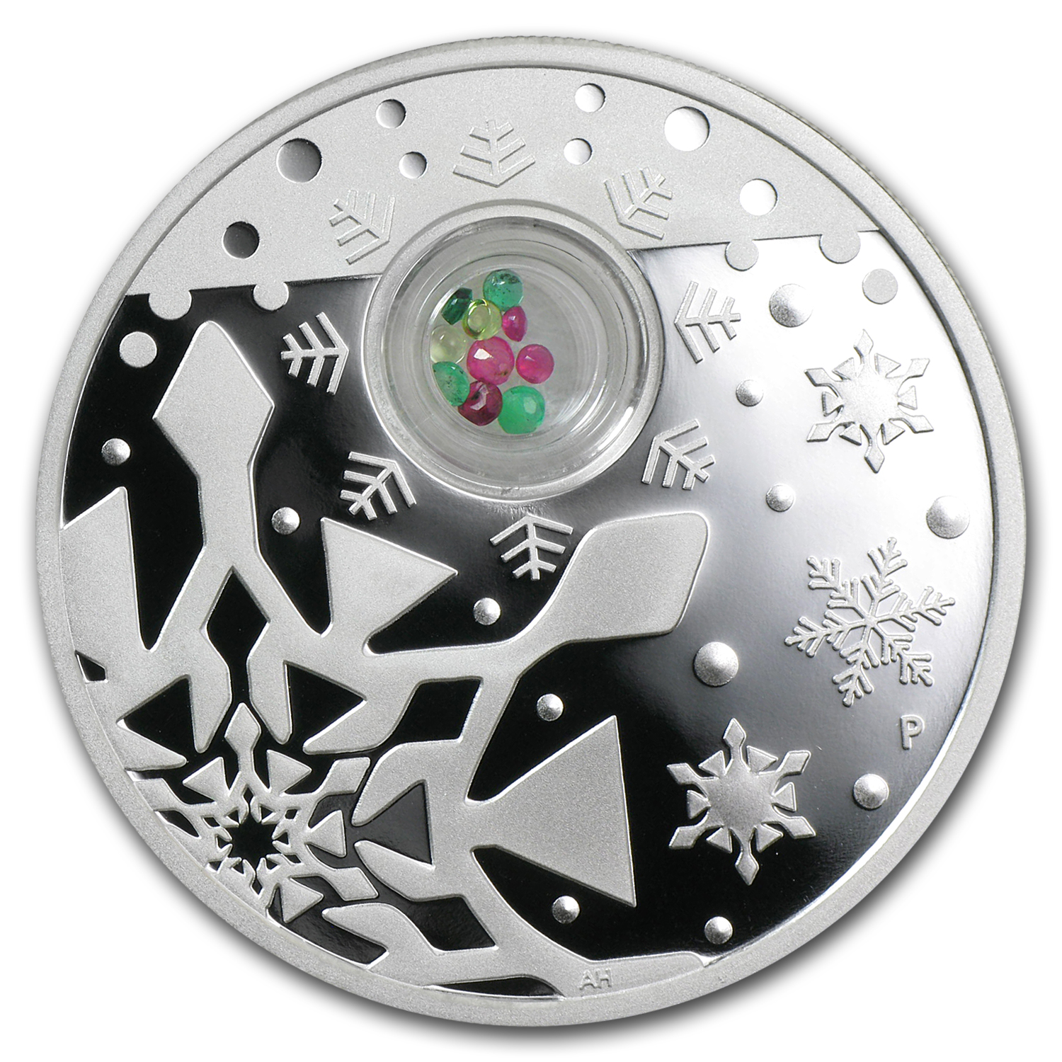 2012 Australia 1 oz Silver Christmas Locket Proof