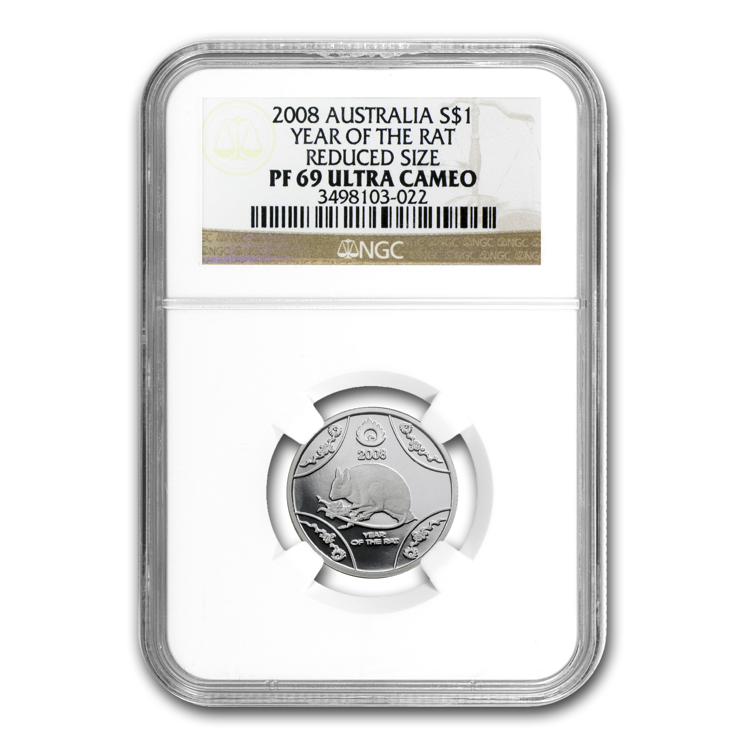 2008 Australia Silver Year of the Rat PF-69 NGC