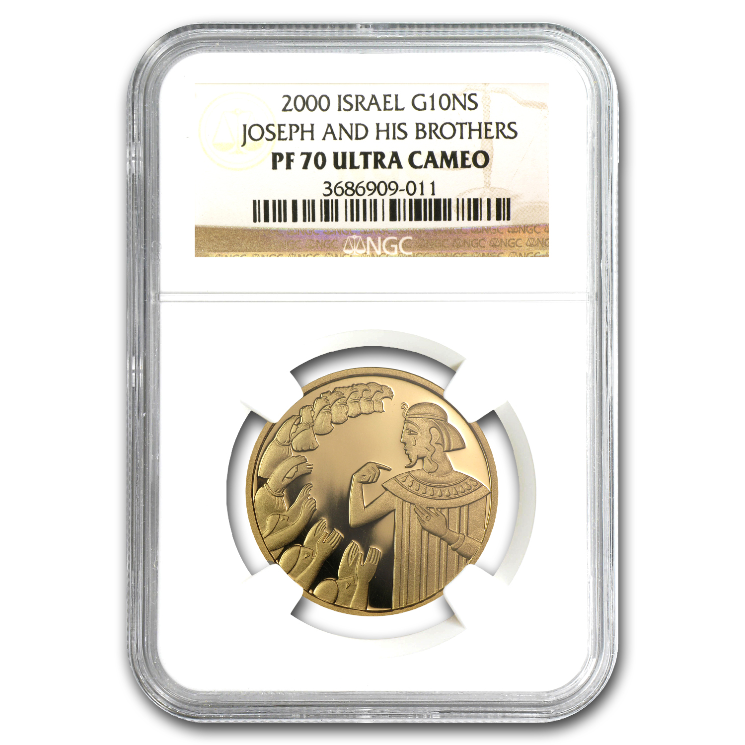 2000 Israel 1/2 oz Proof Gold Joseph & Brothers PF-70 NGC