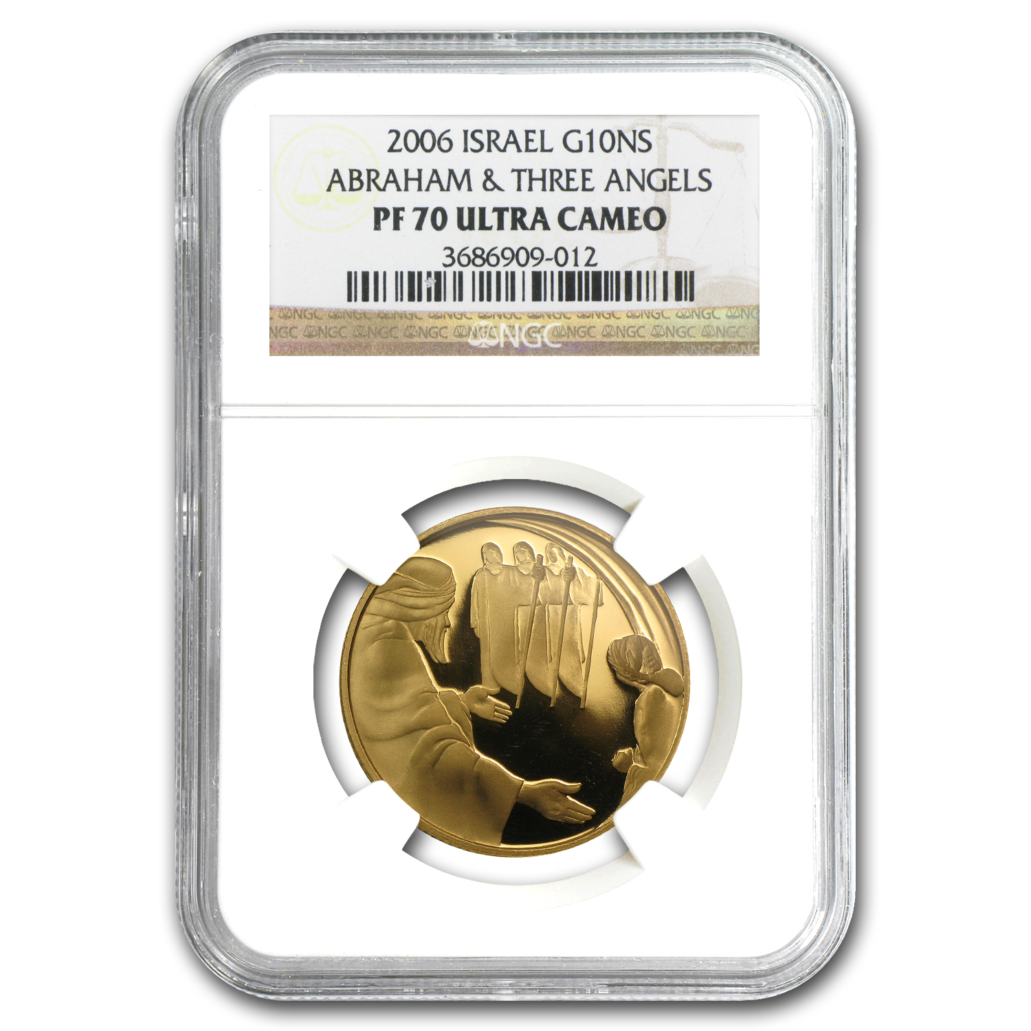 2006 Israel 1/2 oz Proof Gold Abraham and the Angels PF-70 NGC