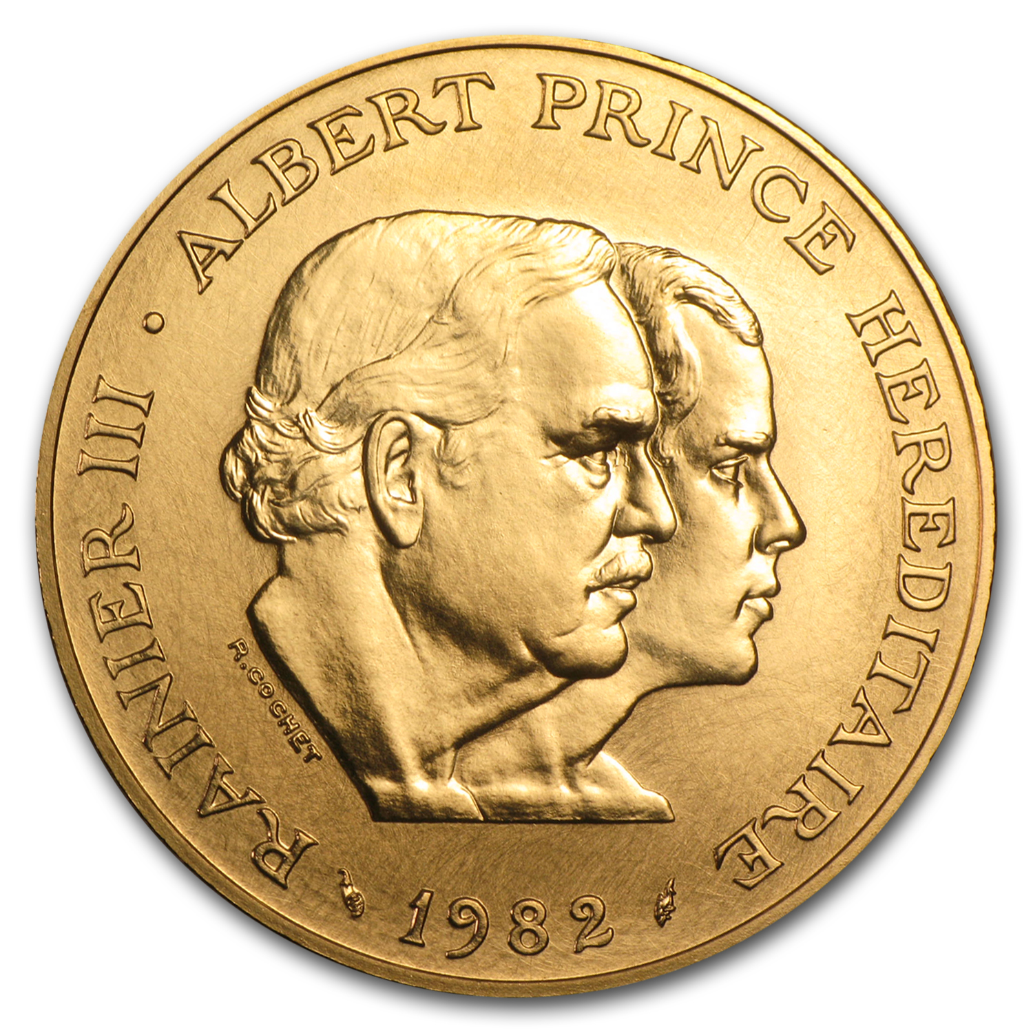 Monaco 1982 Gold 100 Francs Princes AGW .795