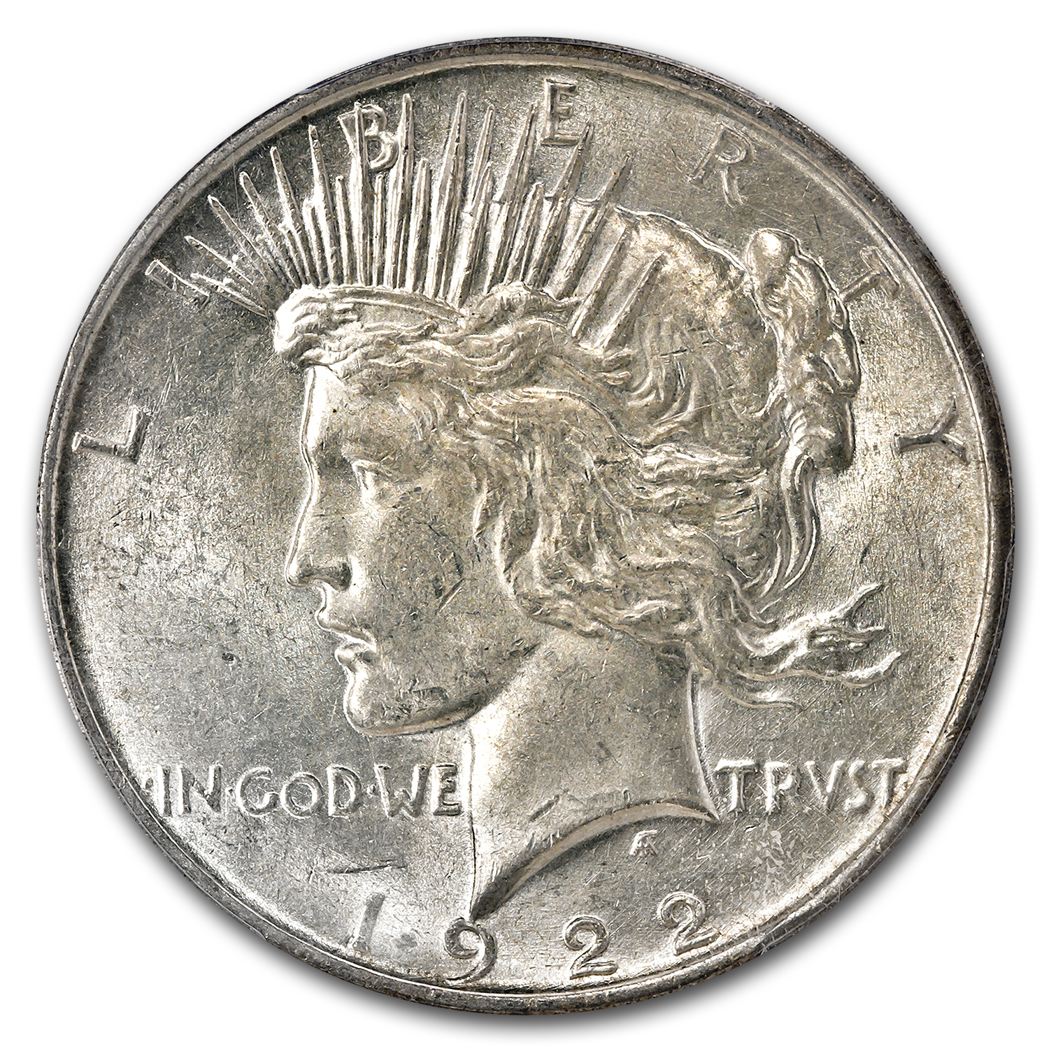 1922-D Peace Dollar AU-58 PCGS (45 Degree CW Rotated Rev)