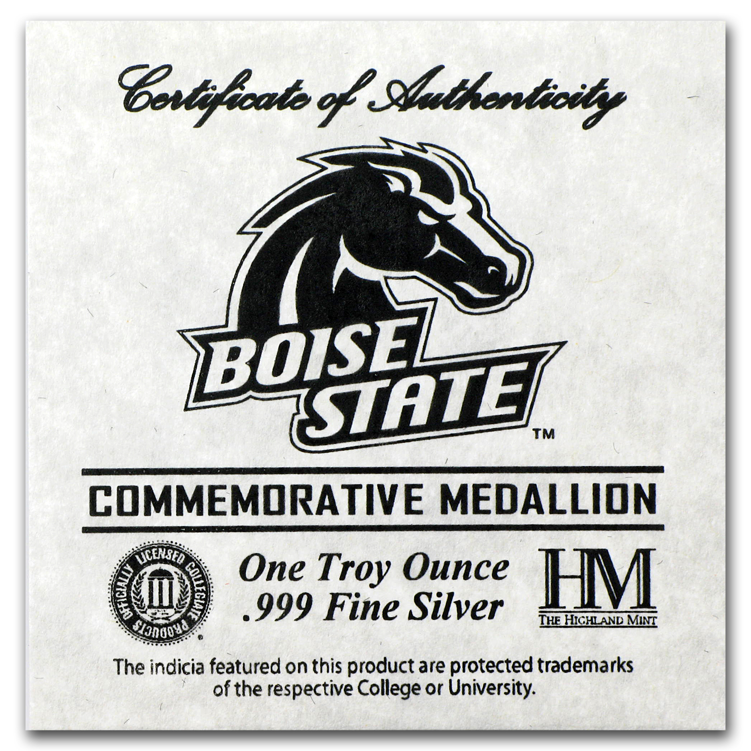 1 oz Silver Round - Boise State