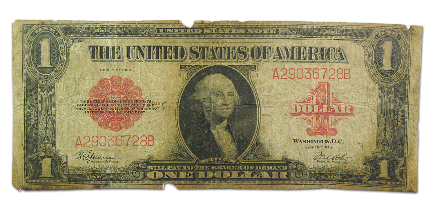 1923 United States Note $1.00 (Almost Good Details)