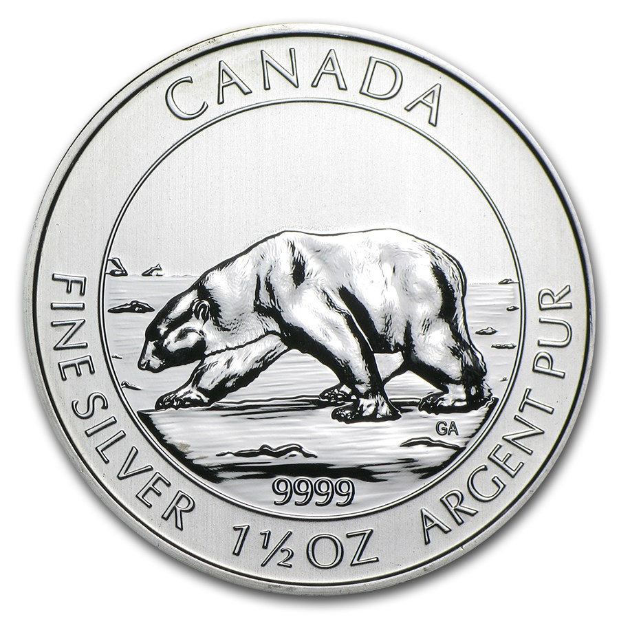 2013 Canada 1 5 Oz Silver 8 Polar Bear Bu 2013 1 5 Oz