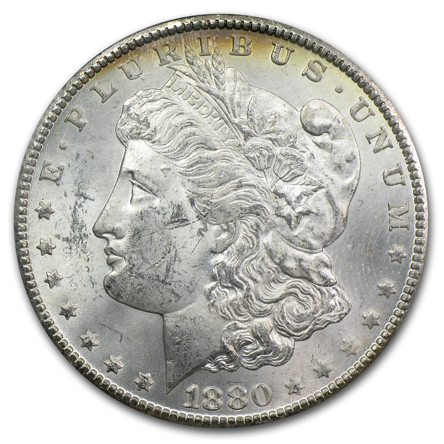 1880-CC Morgan Dollar MS-61 PCGS (GSA Toned Rev)