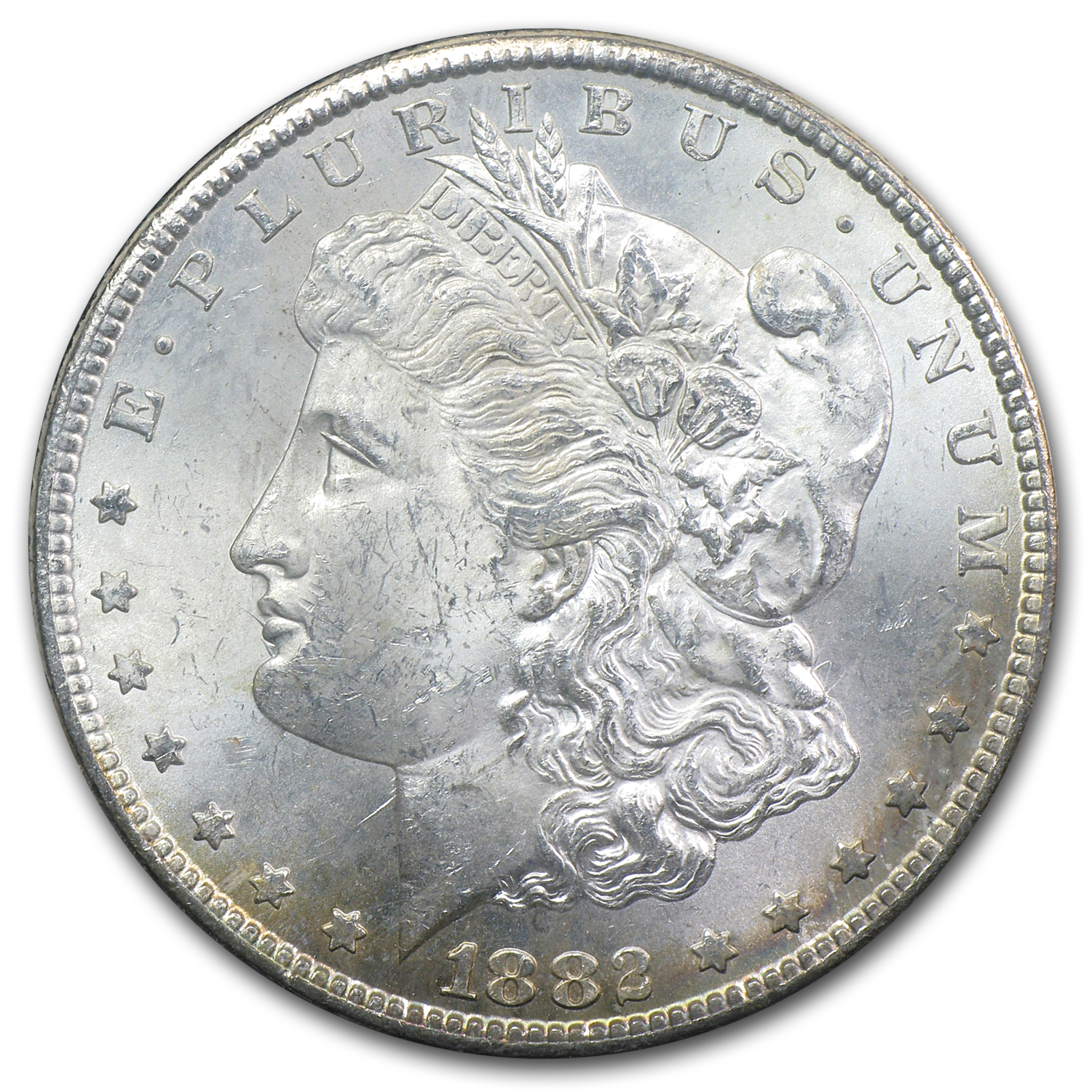 1882-CC Morgan Dollar MS-62 Bag Toned Reverse - GSA Holder
