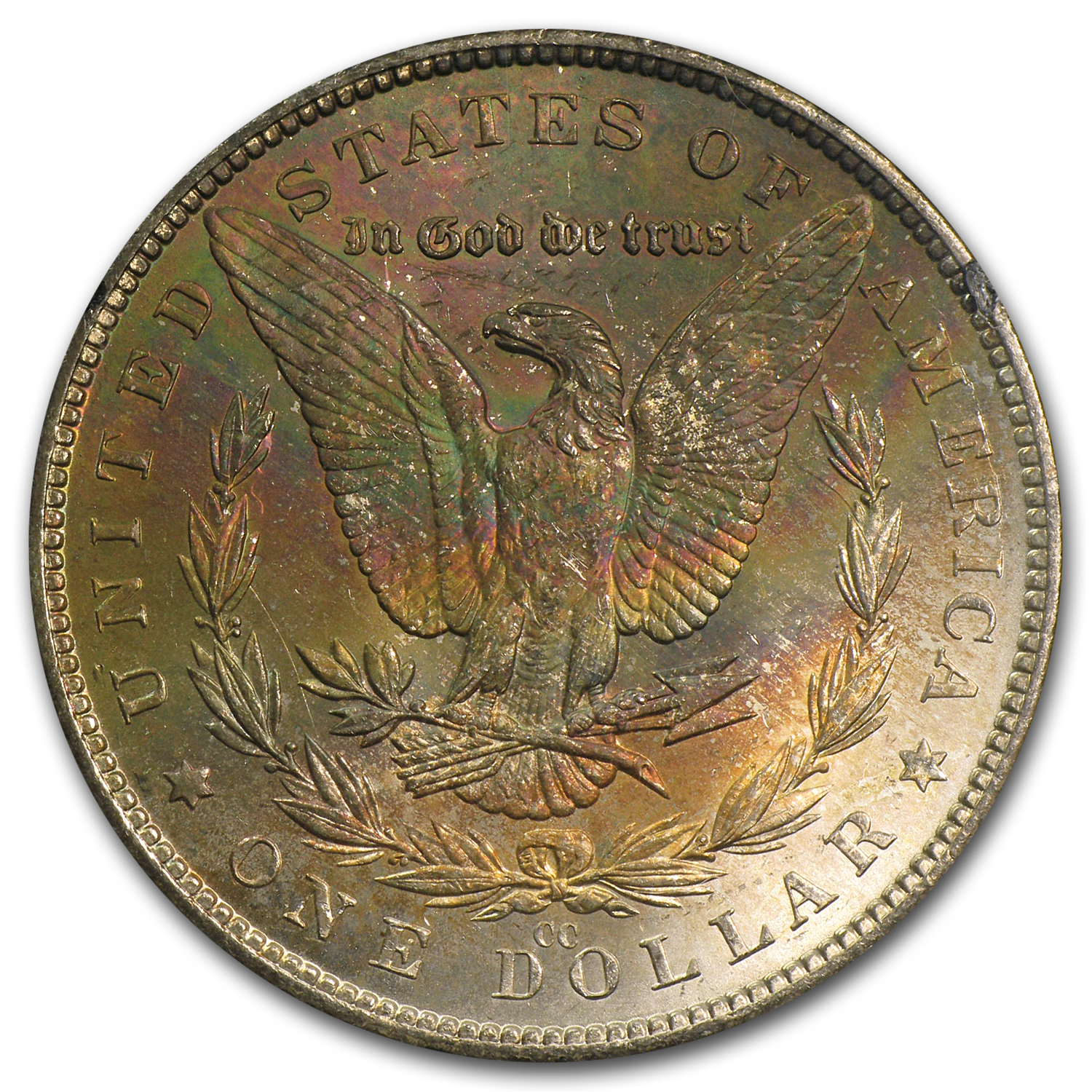 1882-CC Morgan Dollar MS-62 Bag (Toned Rev, GSA Holder)