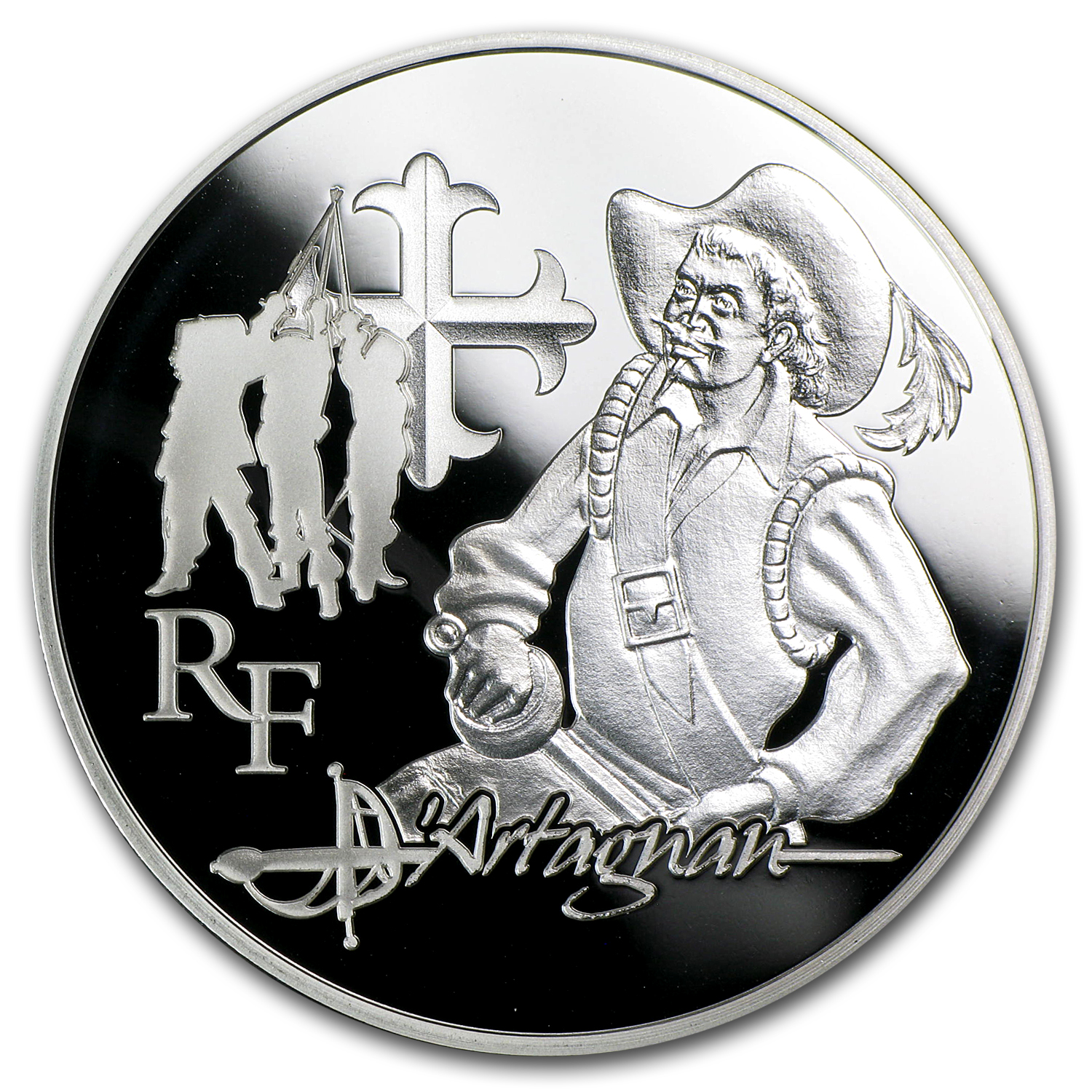 2012 €10 Silver Heroes of French Literature Proof (d'Artagnan)