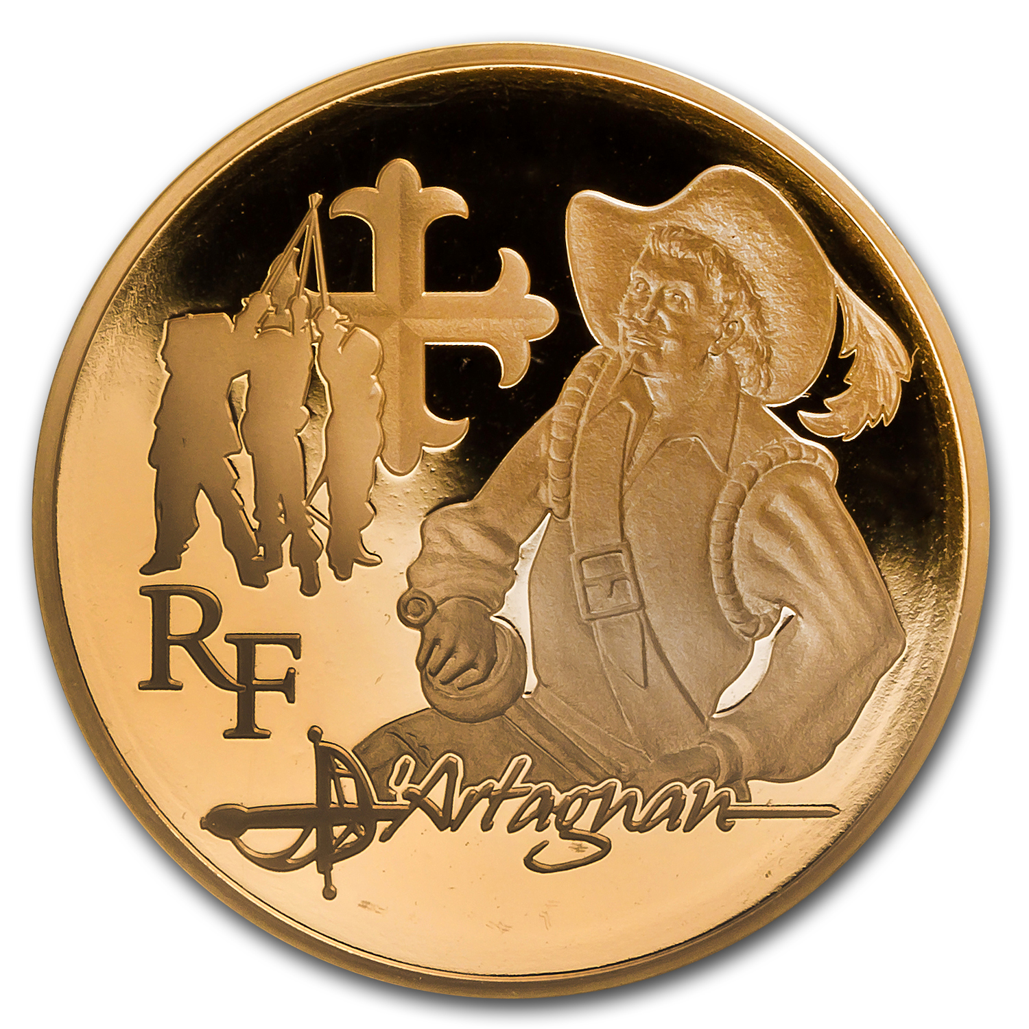 2012 1/4 oz Proof Gold Heroes Literature d'Artagnan (Musketeer)