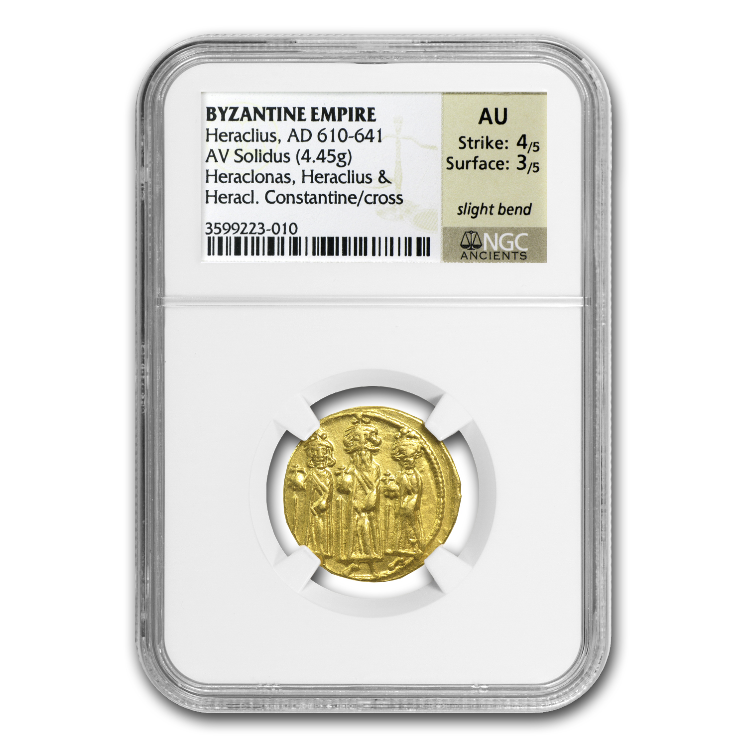 Byzantine Gold Coin (Heraclius) 610-641 AD NGC AU