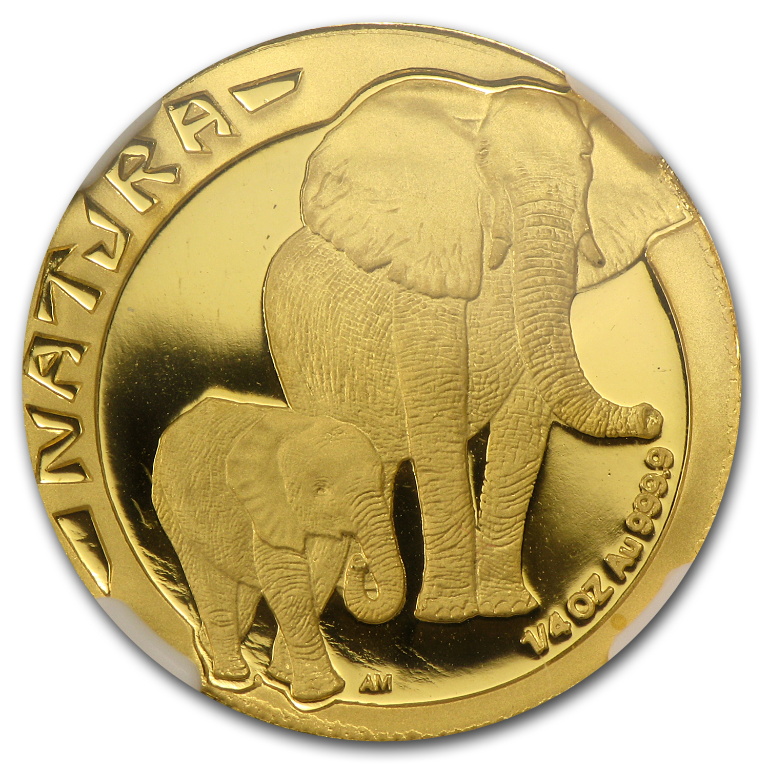 1996 1/4 oz Gold South African Natura (Elephant) PF-69 NGC
