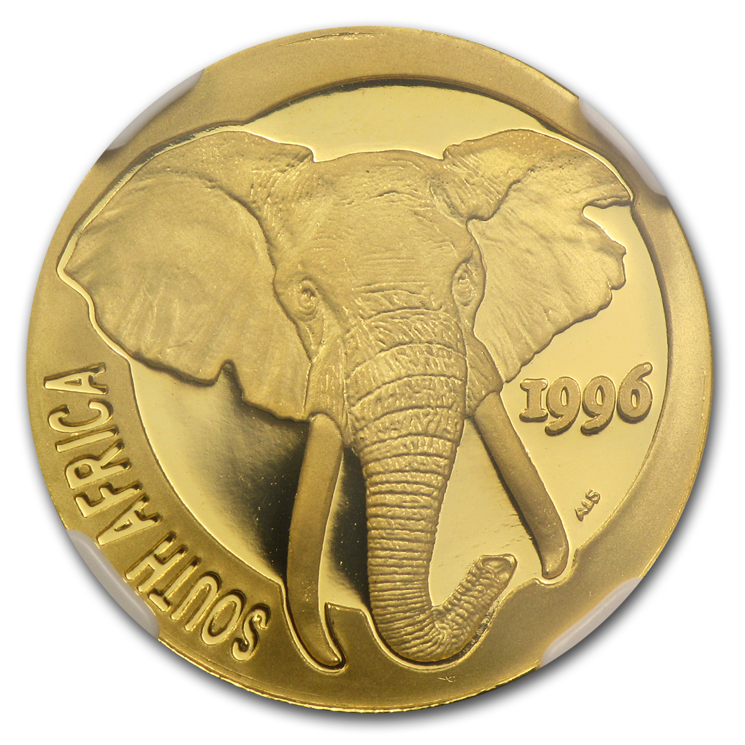 1996 South Africa 1/4 oz Gold Natura Elephant PF-69 NGC